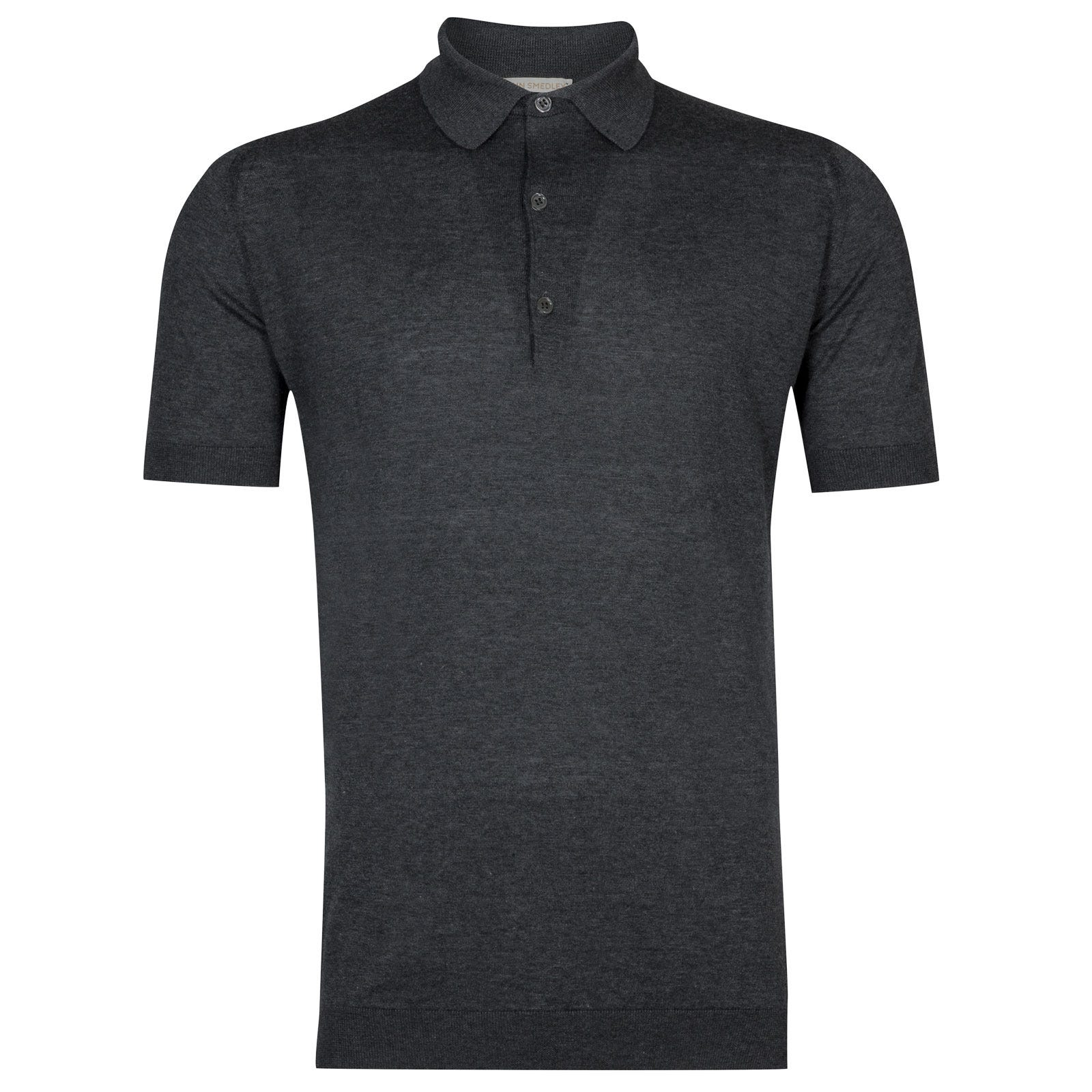 John Smedley Haddon Sea Island Cotton and Cashmere Shirt in Charcoal-S