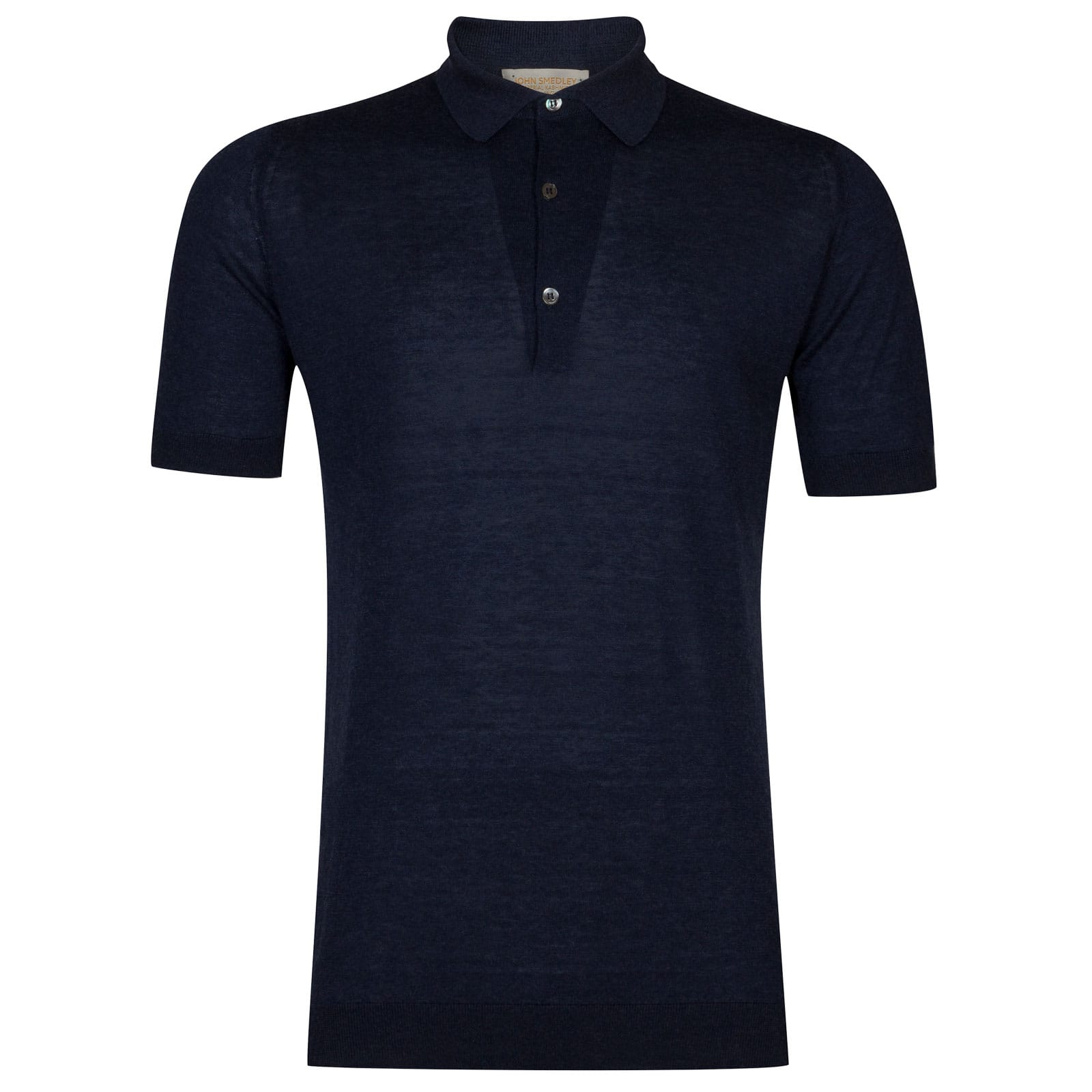 John Smedley Haddon Sea Island Cotton and Cashmere Shirt in Indigo-XXL
