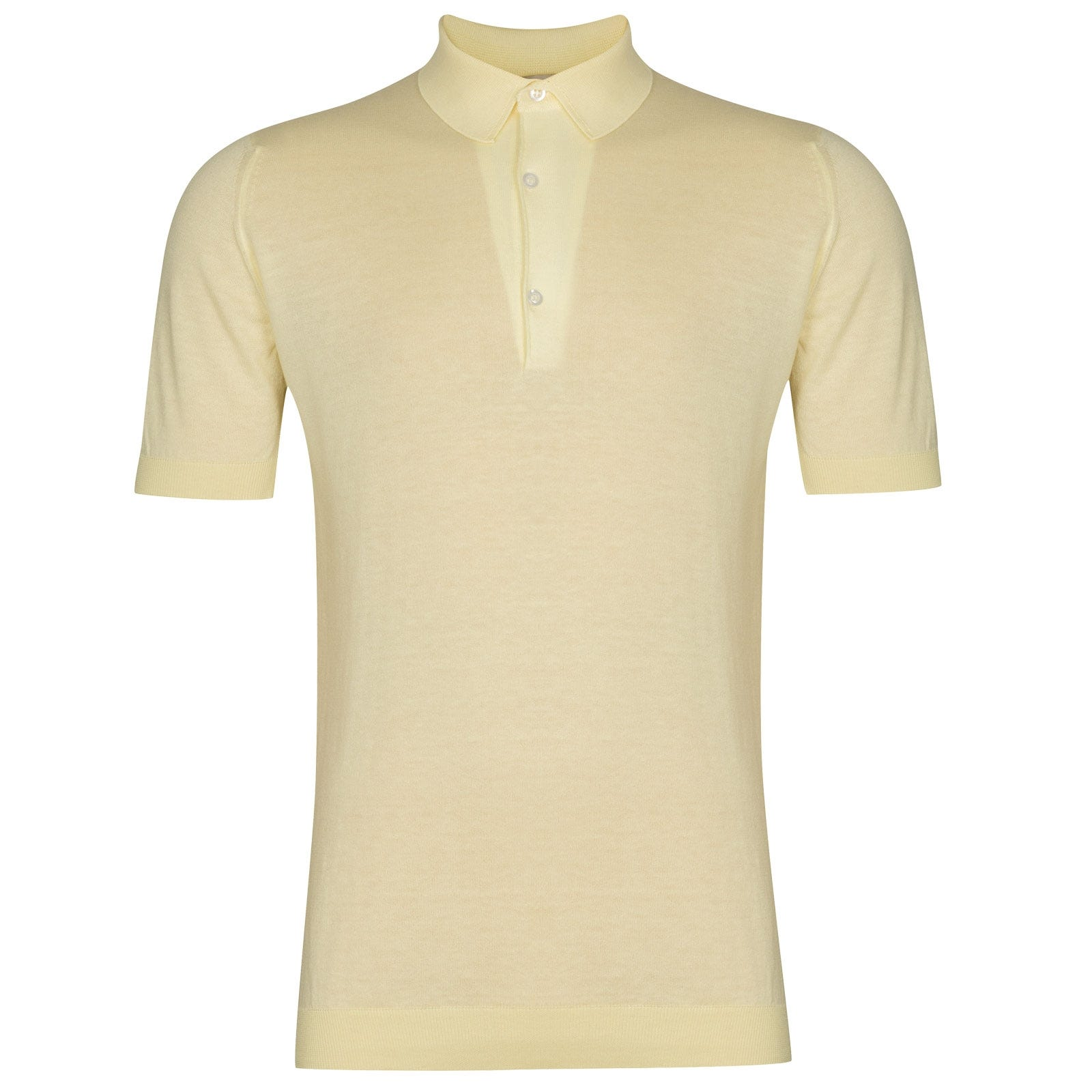 John Smedley Haddon in Lemon White Shirt-SML