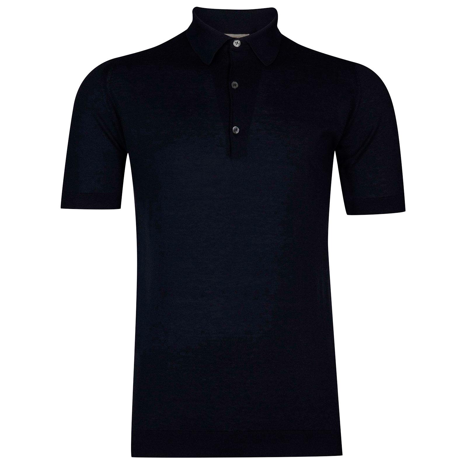 John Smedley Haddon in Navy Shirt-SML