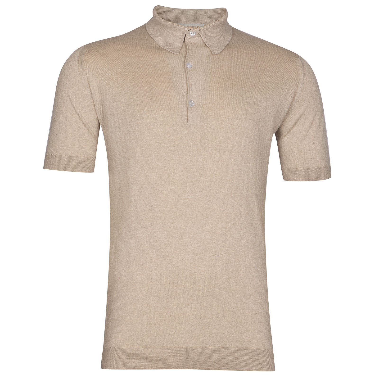 John Smedley Haddon Sea Island Cotton and Cashmere Shirt in