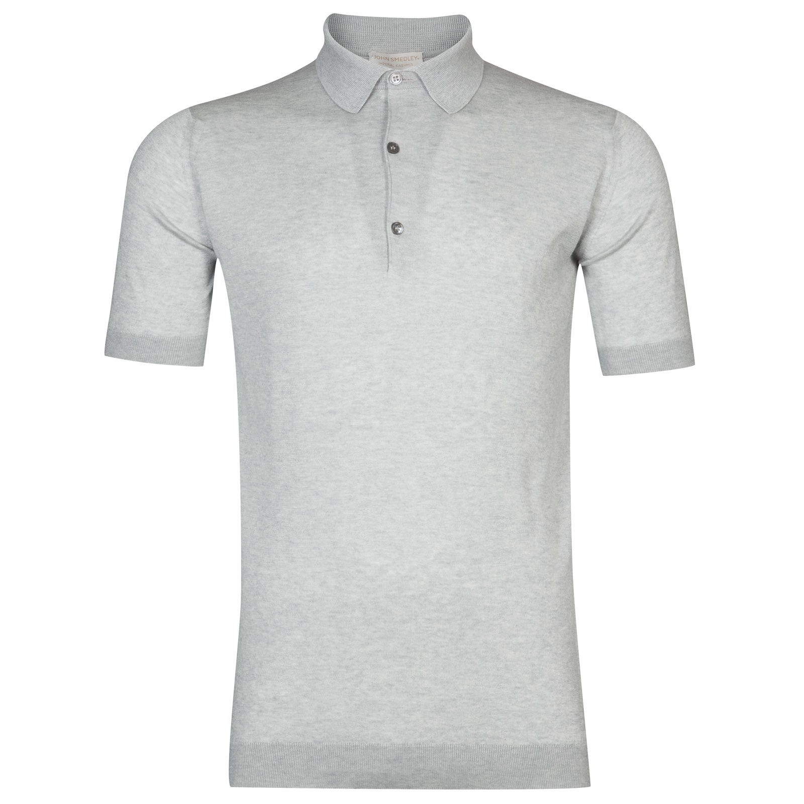 John Smedley Haddon Sea Island Cotton and Cashmere Shirt in Silver-L