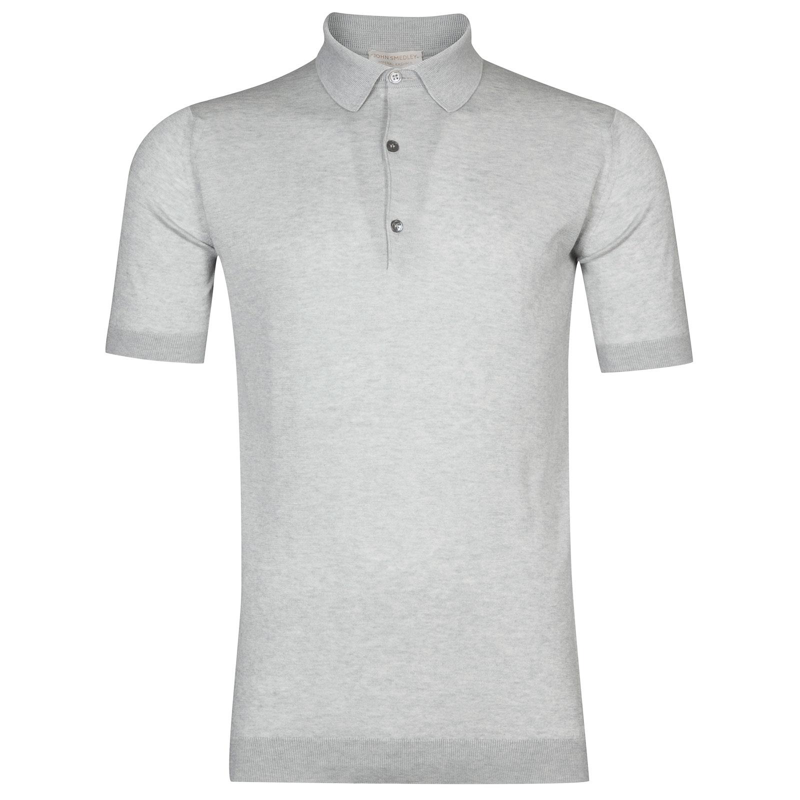 John Smedley Haddon in Silver Shirt-MED
