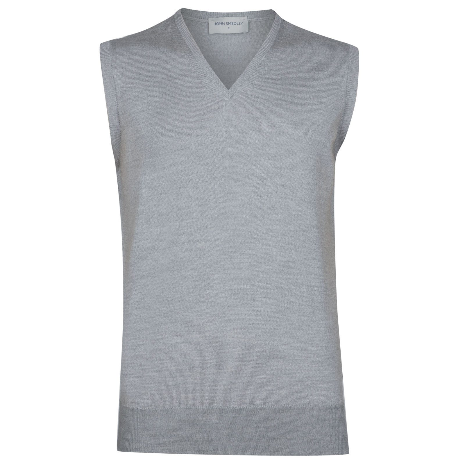 John Smedley Hadfield Merino Wool Slipover in Bardot Grey-XL