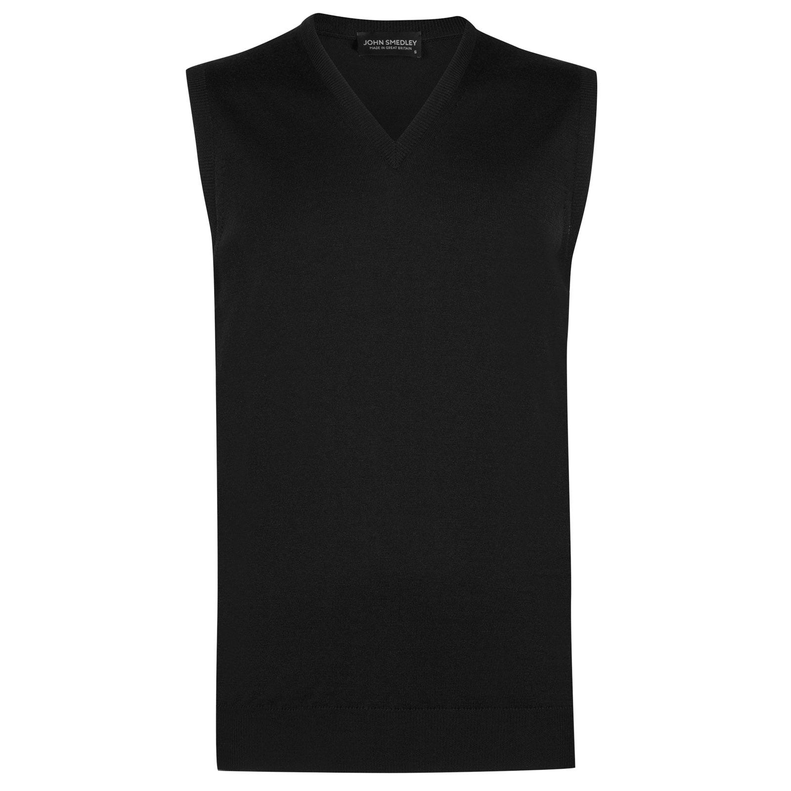 John Smedley hadfield Merino Wool Slipover in Black-M