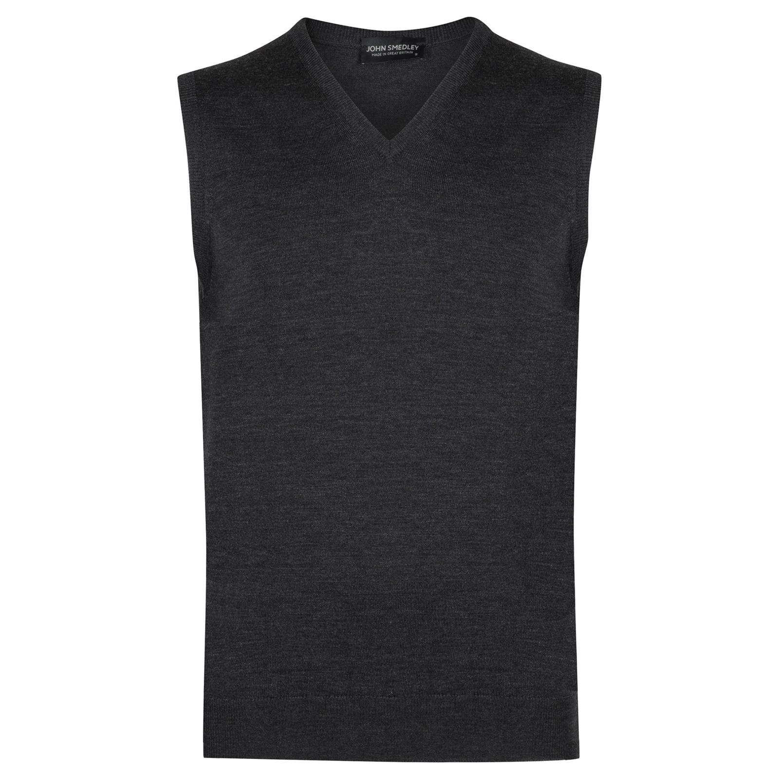 John Smedley hadfield Merino Wool Slipover in Charcoal-XXL