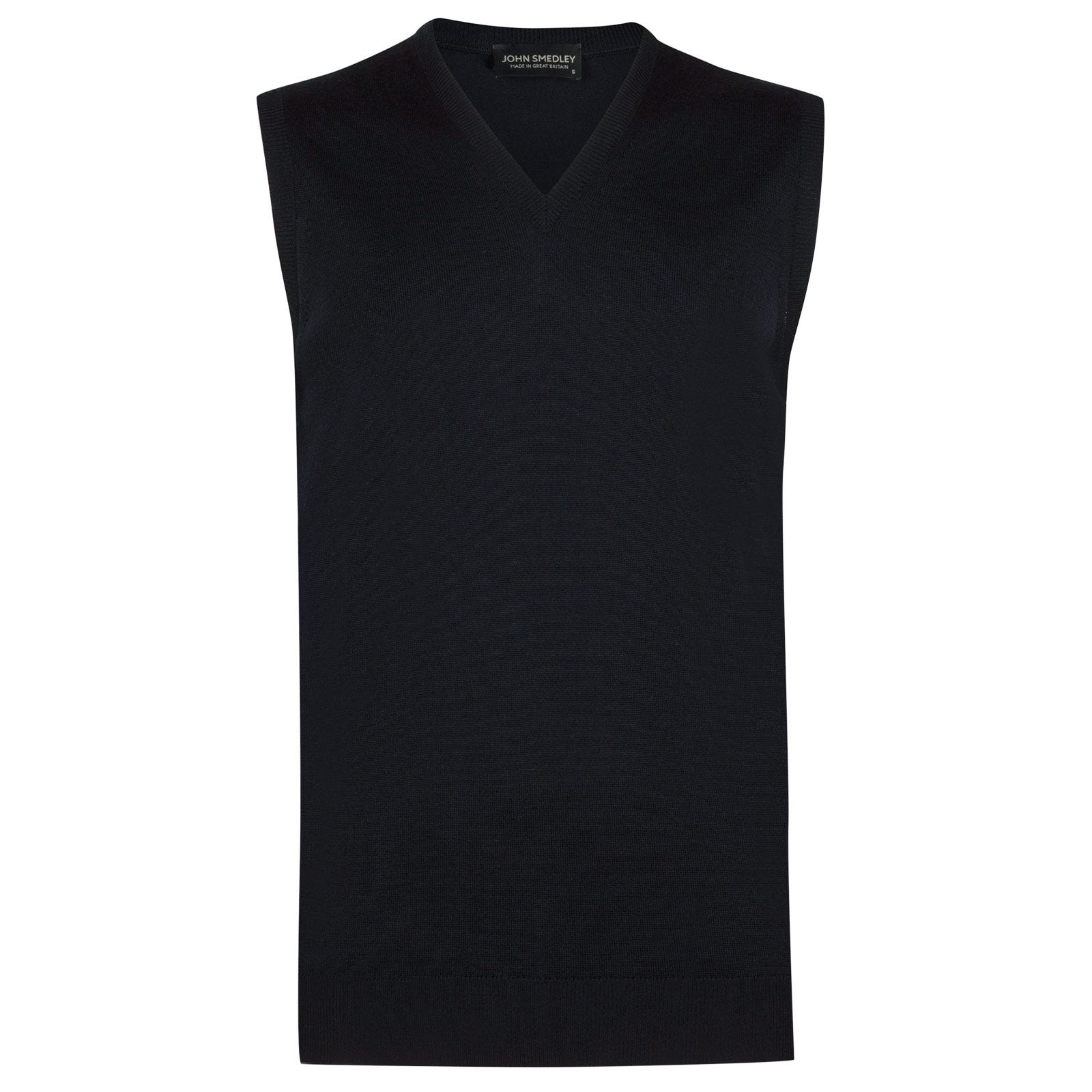 John Smedley hadfield Merino Wool Slipover in Midnight-S