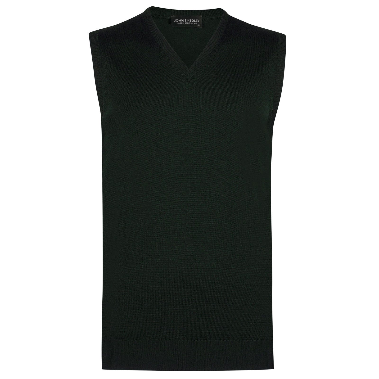 John Smedley hadfield Merino Wool Slipover in Racing Green-L
