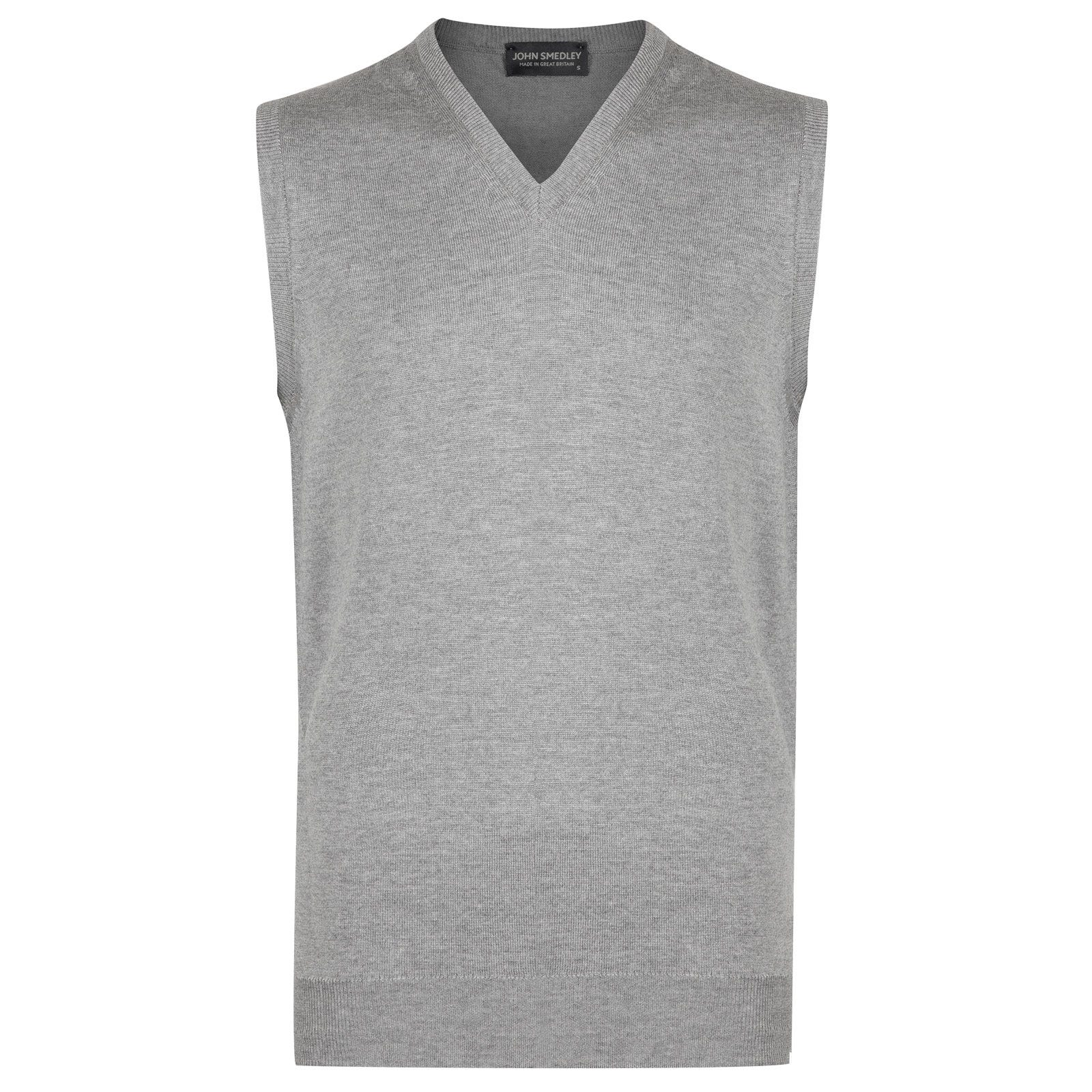 John Smedley hadfield Merino Wool Slipover in Silver-M
