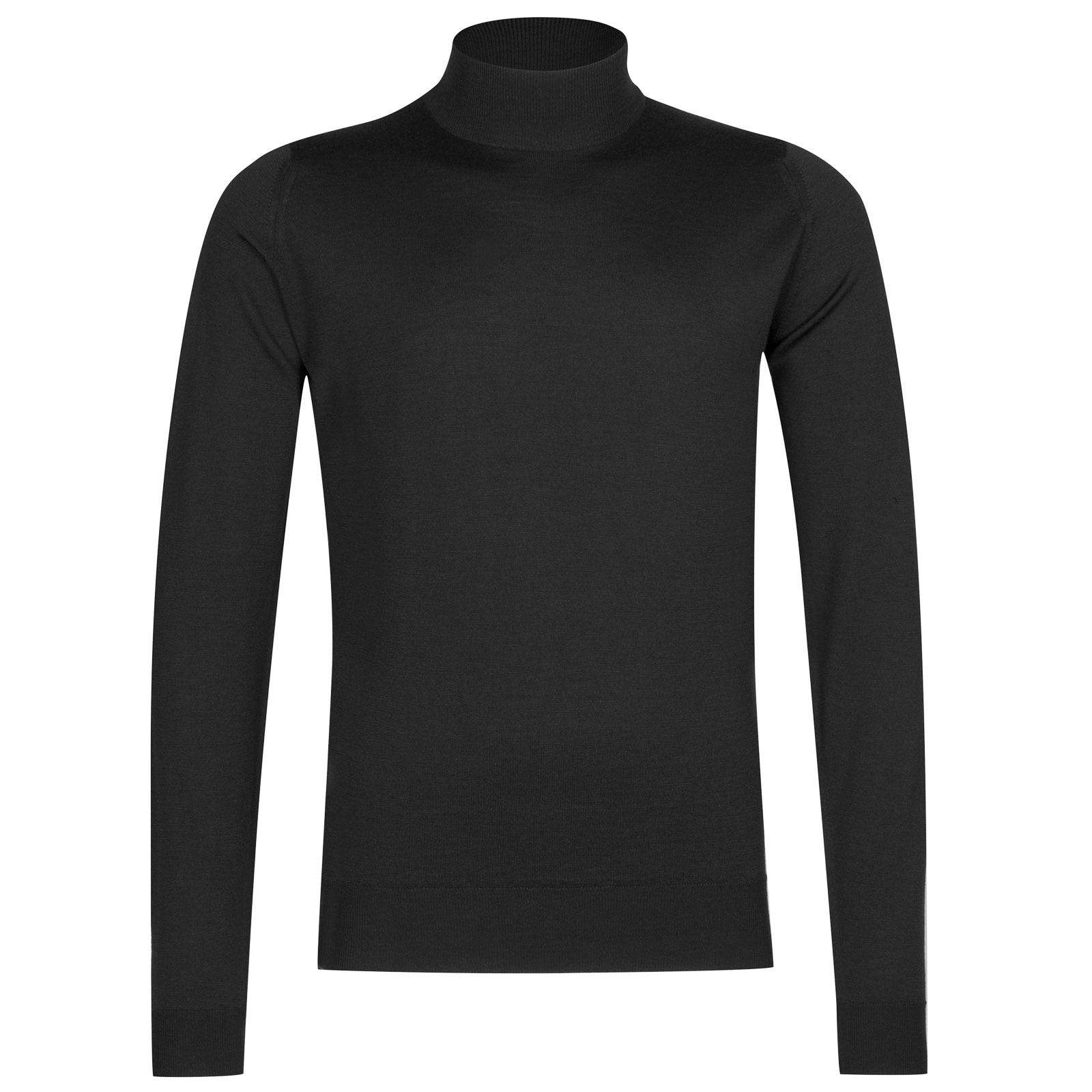John Smedley harcourt Merino Wool Pullover in Black-XL