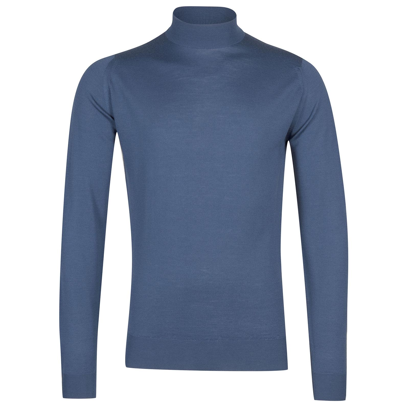 John Smedley Harcourt in Blue Iris Pullover-SML