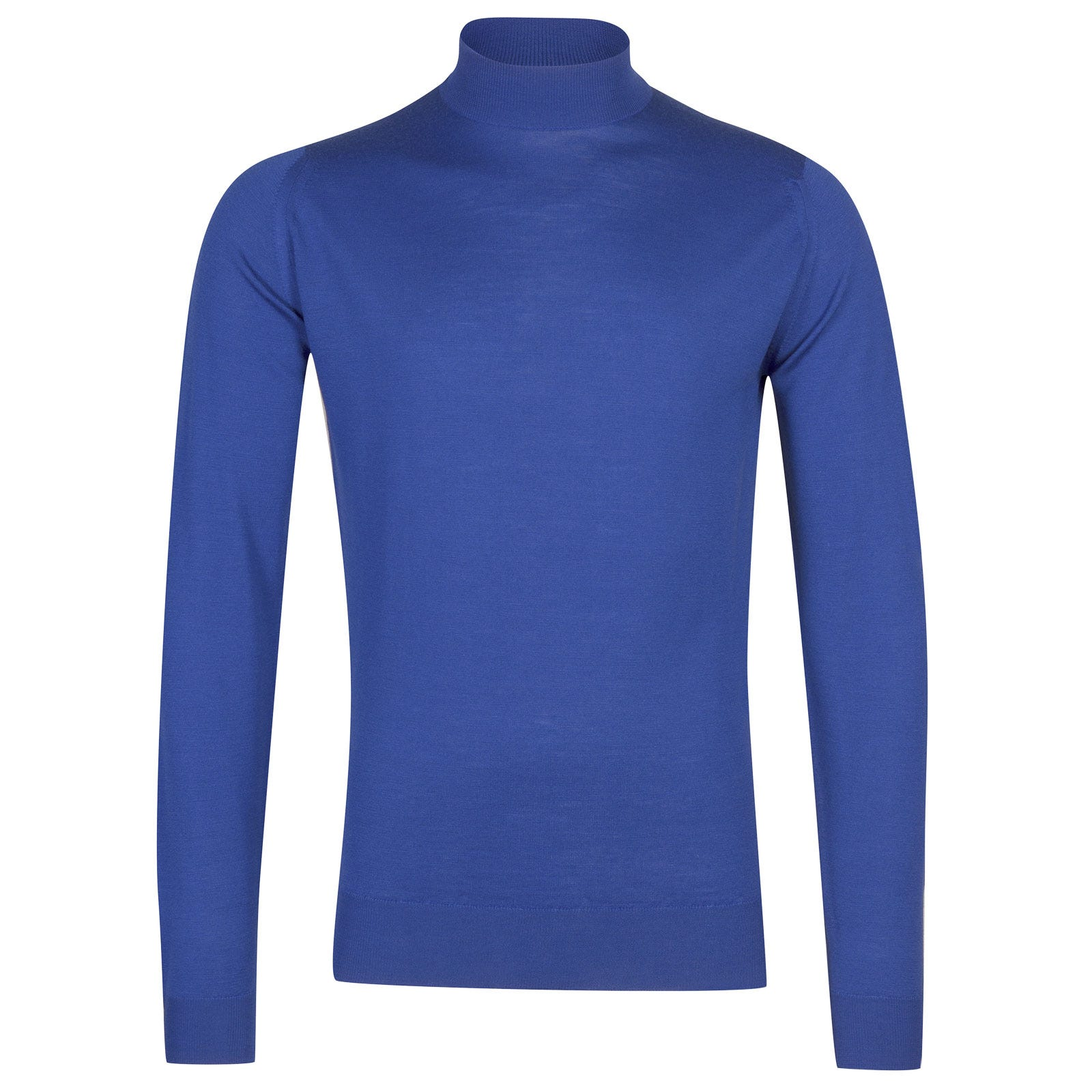 John Smedley Harcourt Merino Wool Pullover in Chambray Blue-M
