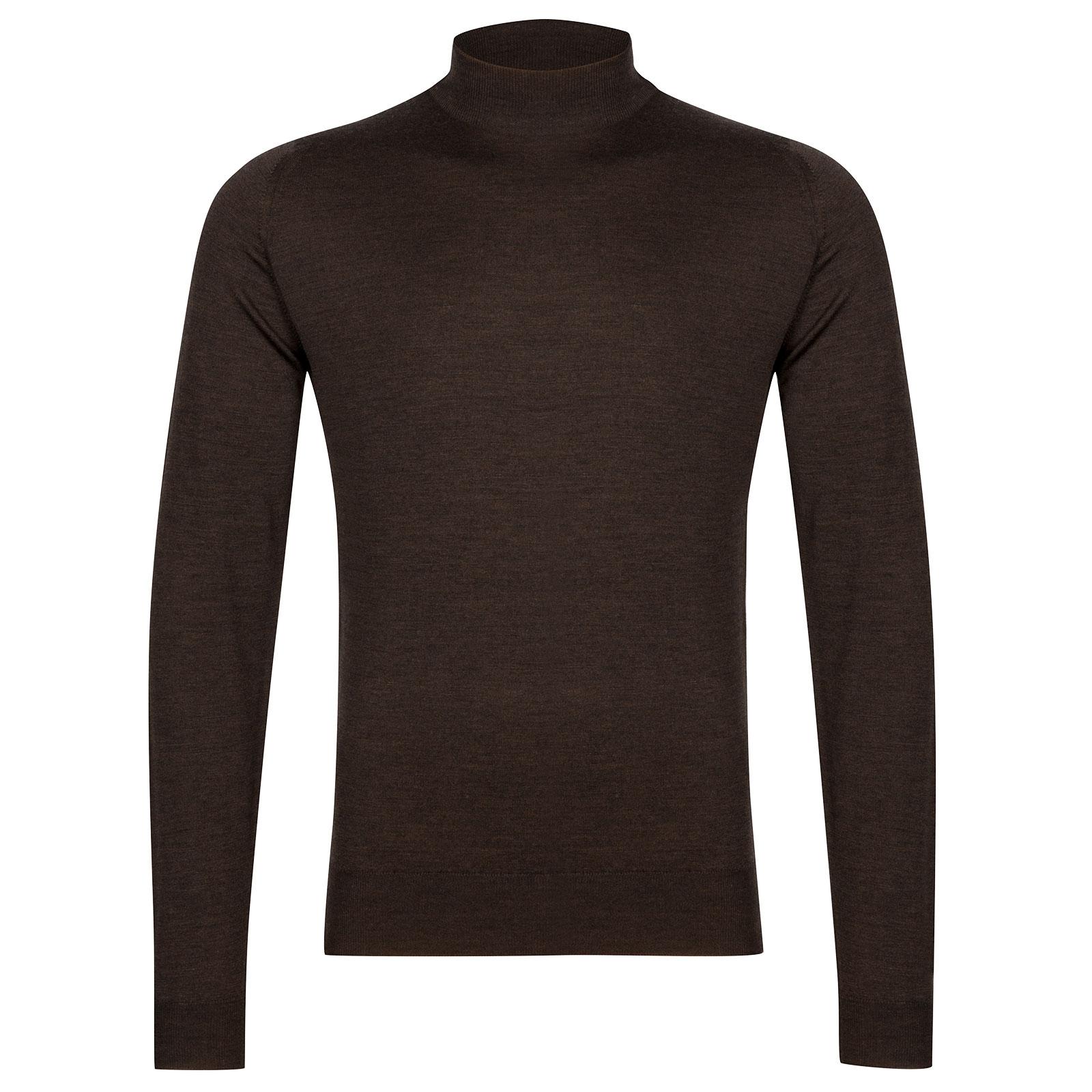 John Smedley Harcourt Merino Wool Pullover in Chestnut-L