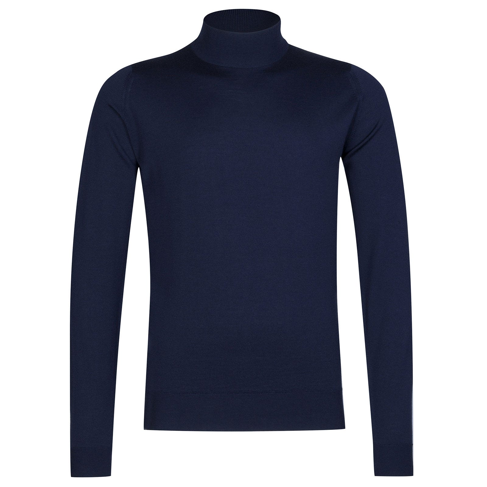 John Smedley Harcourt Merino Wool Pullover in Magnetic Cobalt-XXL