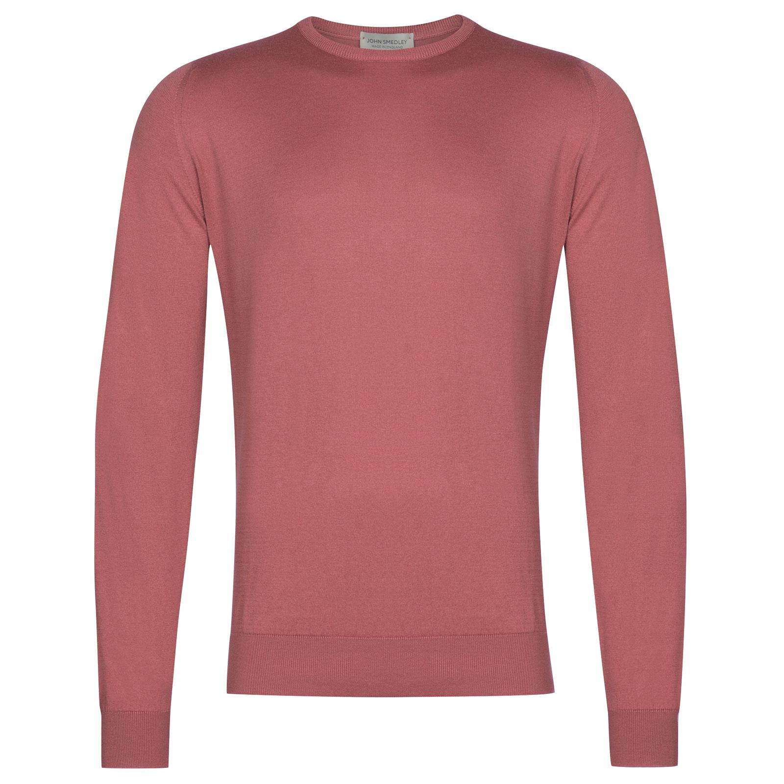 John Smedley Hatfield in Azalea Pink Pullover-XXL