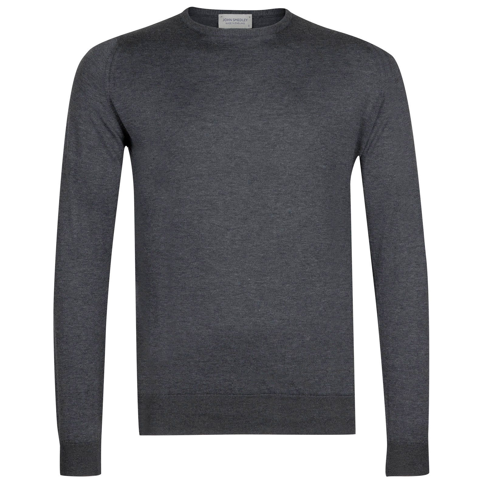 John Smedley hatfield Sea Island Cotton Pullover in Charcoal-XXL