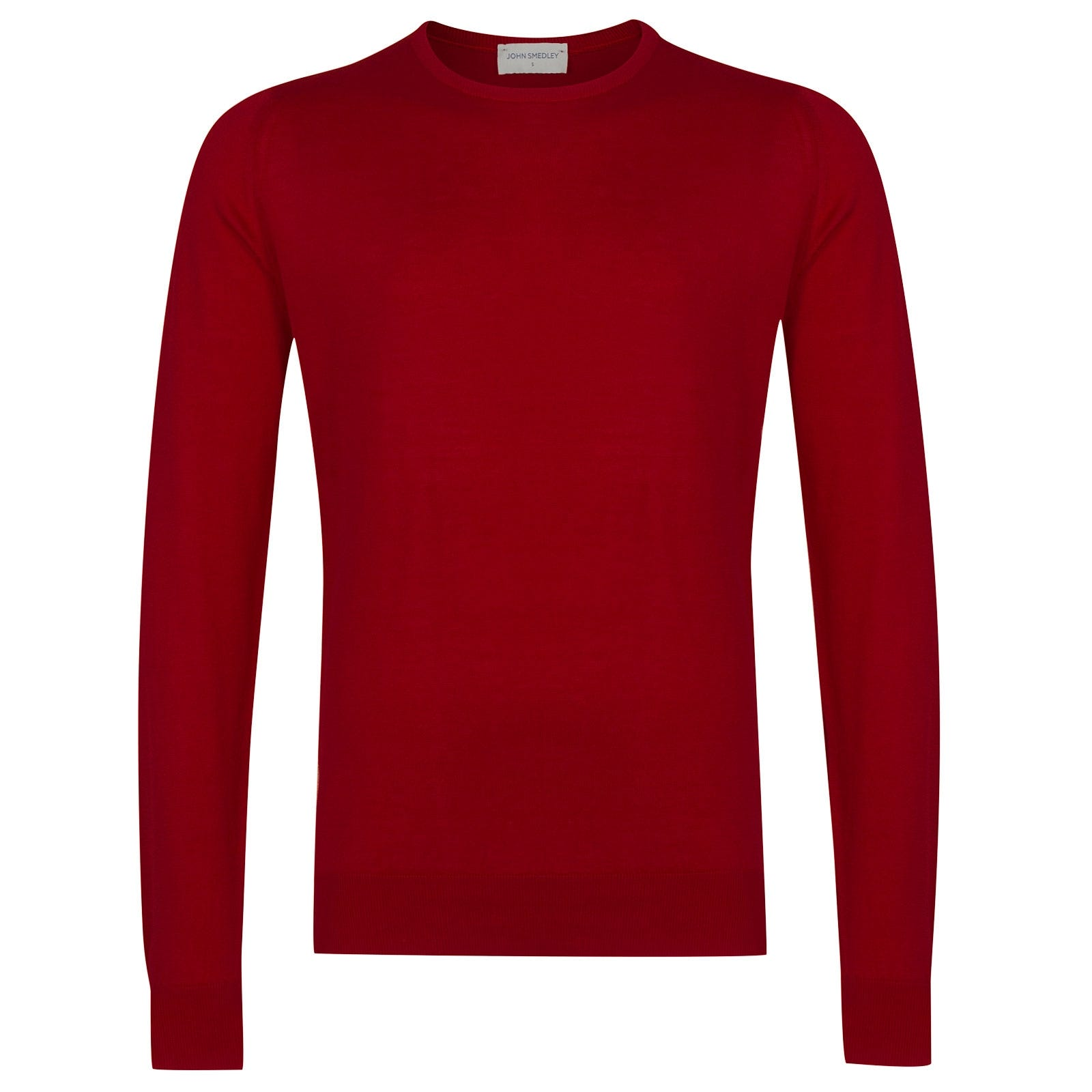 John Smedley HatfieldSea Island Cotton Pullover in Dandy Red-L