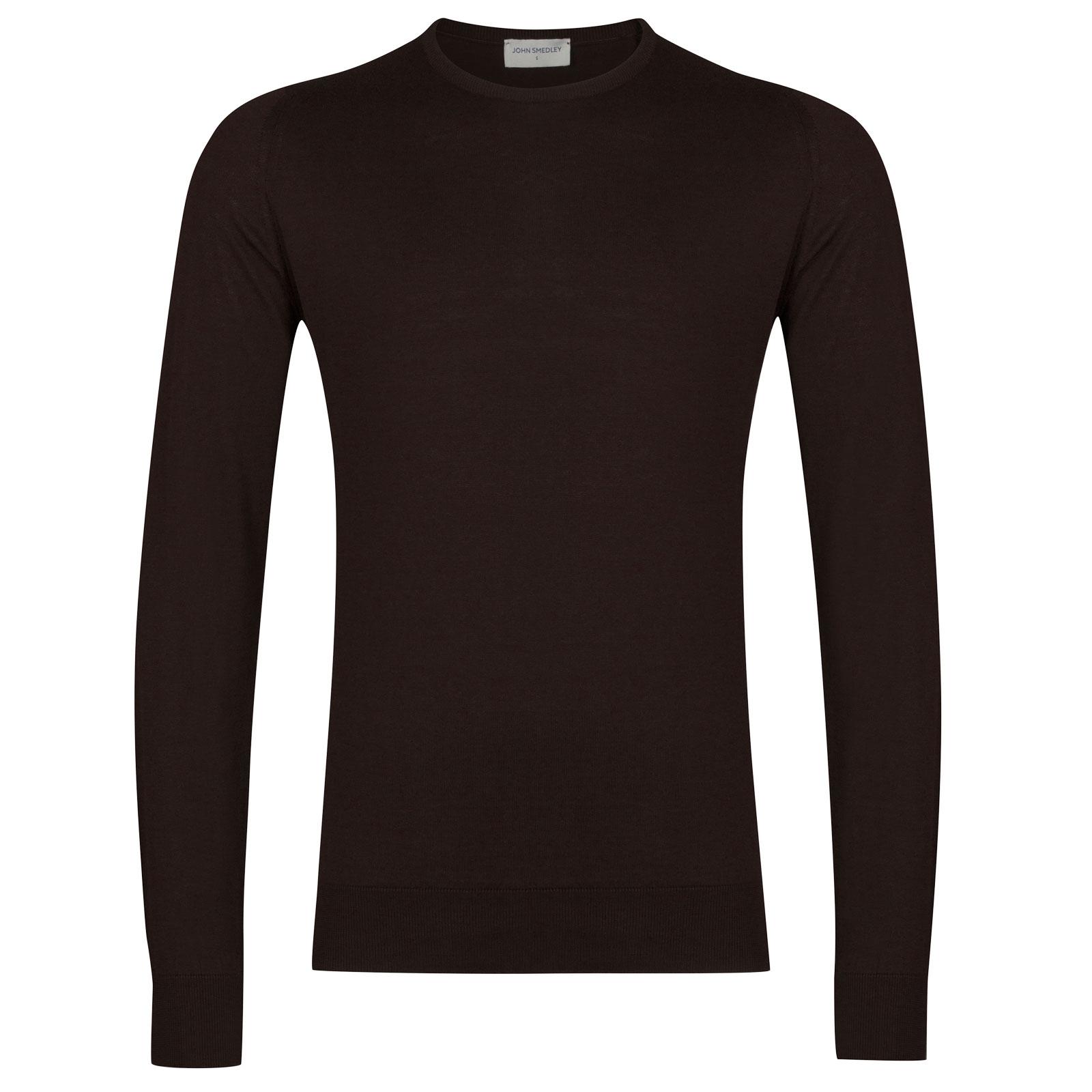 John Smedley Hatfield in Dark Leather Pullover-LGE