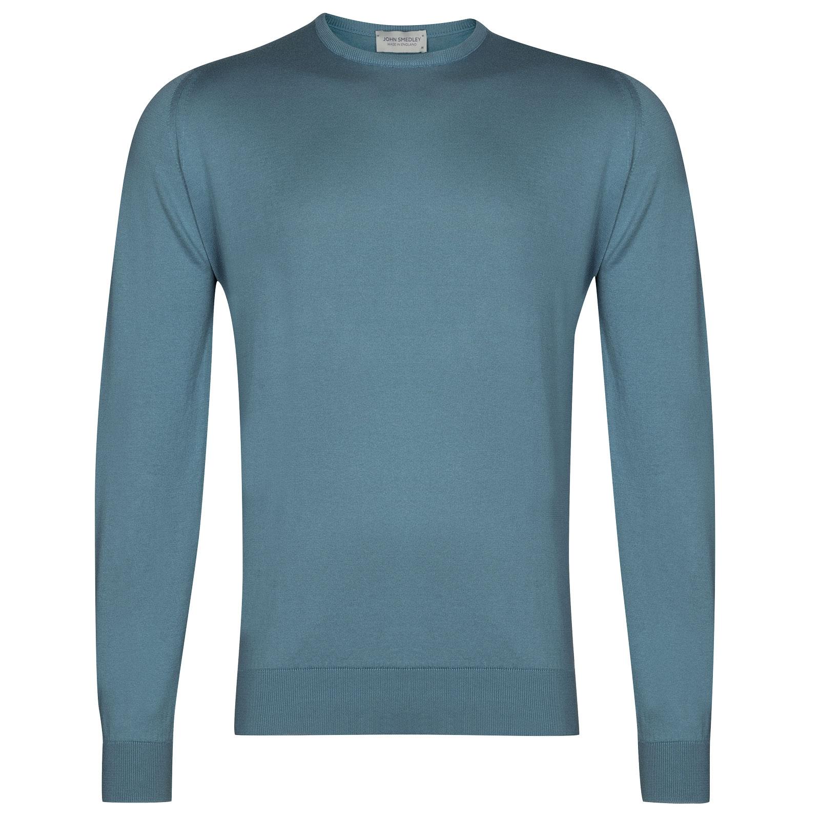 John Smedley Hatfield in Dewdrop Blue Pullover-LGE