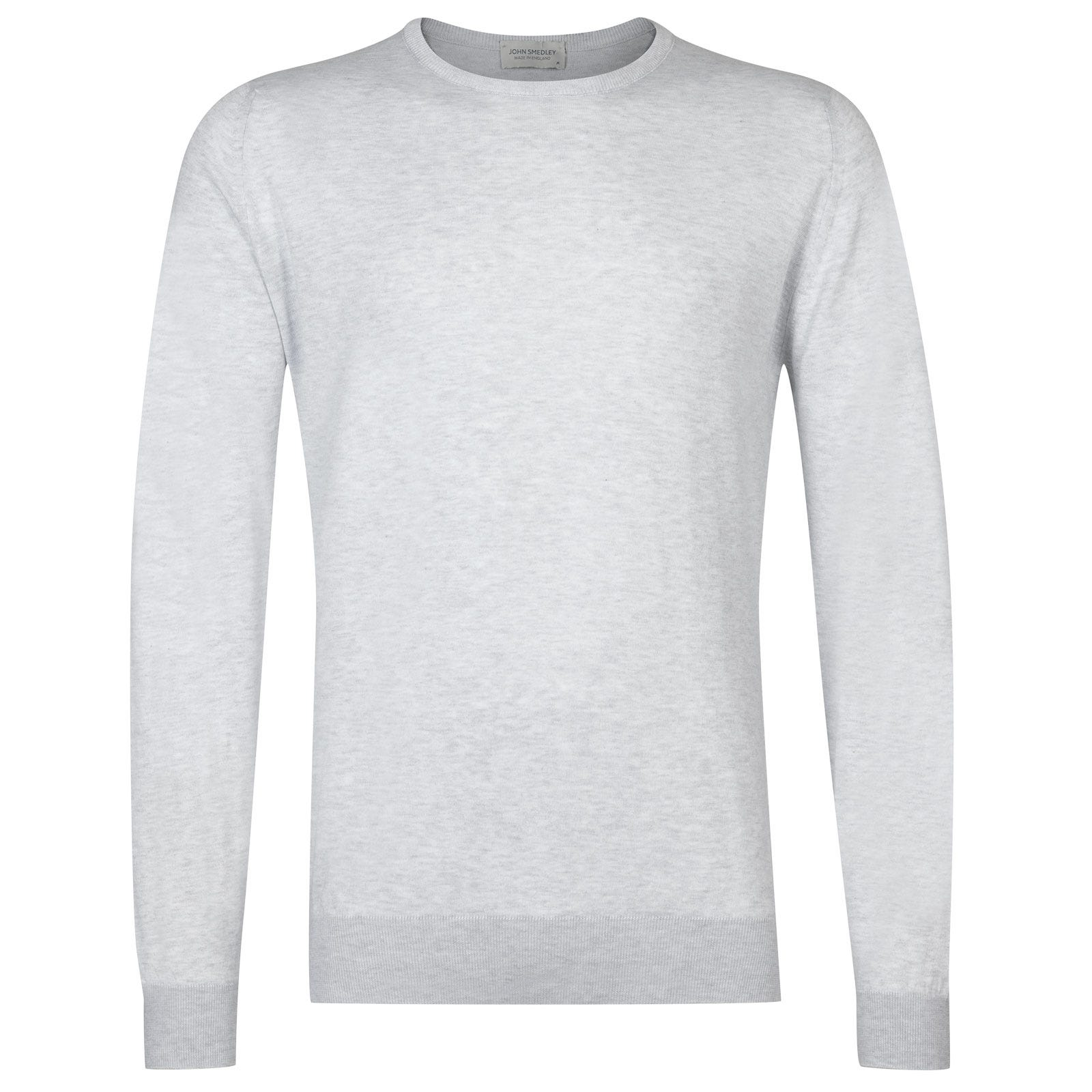 John Smedley hatfield Sea Island Cotton Pullover in Feather Grey-XXL