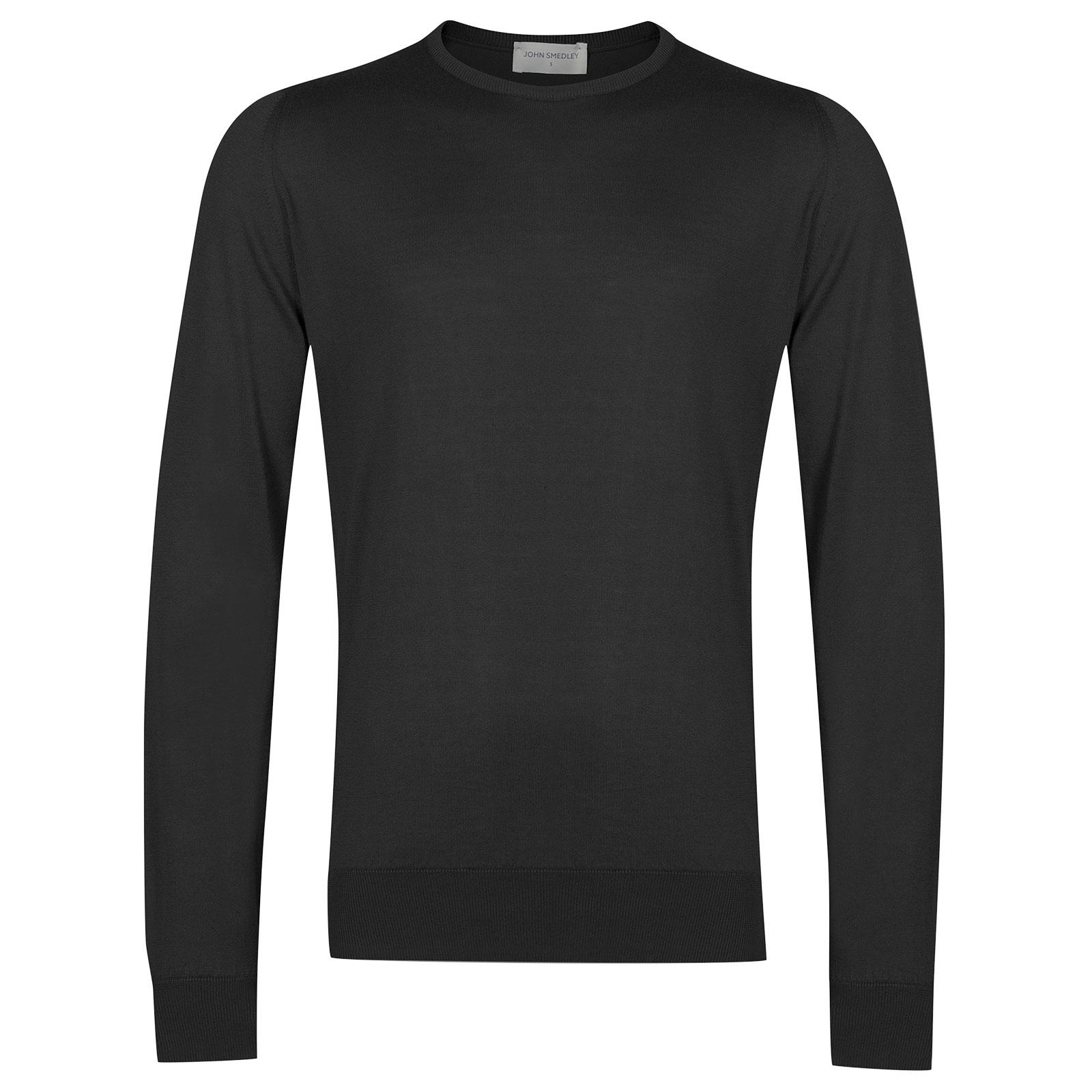 John Smedley HatfieldSea Island Cotton Pullover in Flannel Grey-XXL