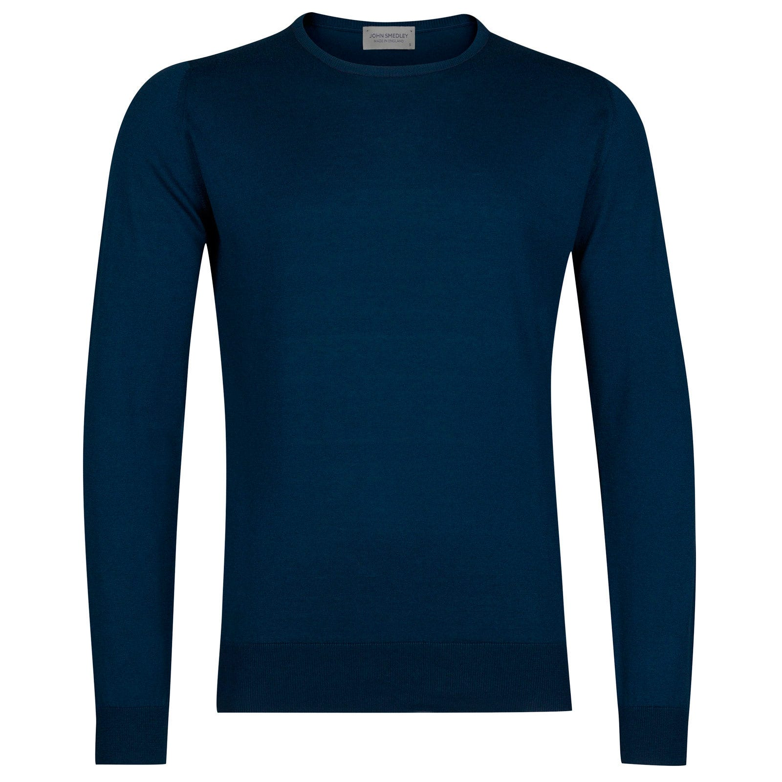 John Smedley hatfield Sea Island Cotton Pullover in Indigo-XL