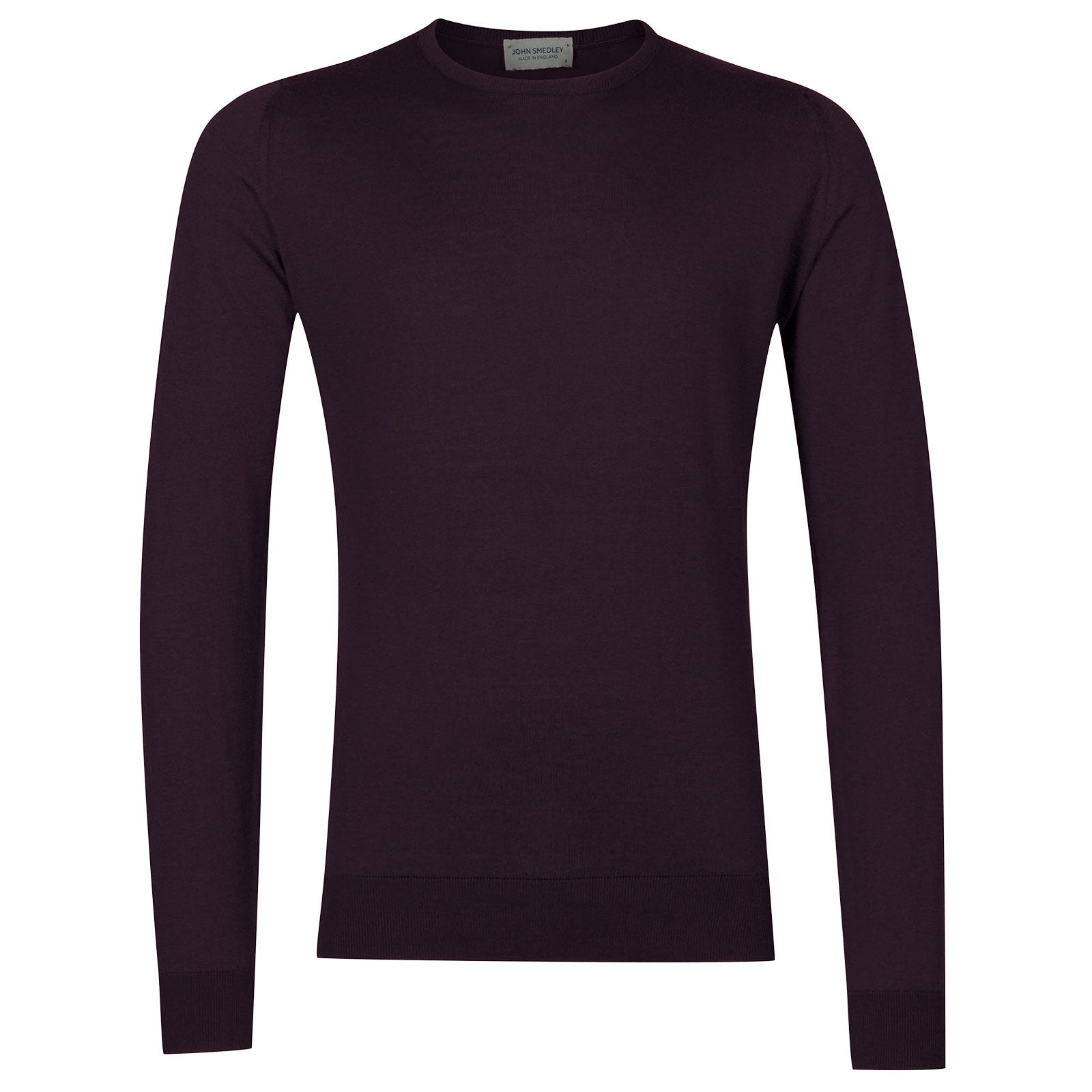 John Smedley Hatfield Sea Island Cotton Pullover in Mystic Purple-M