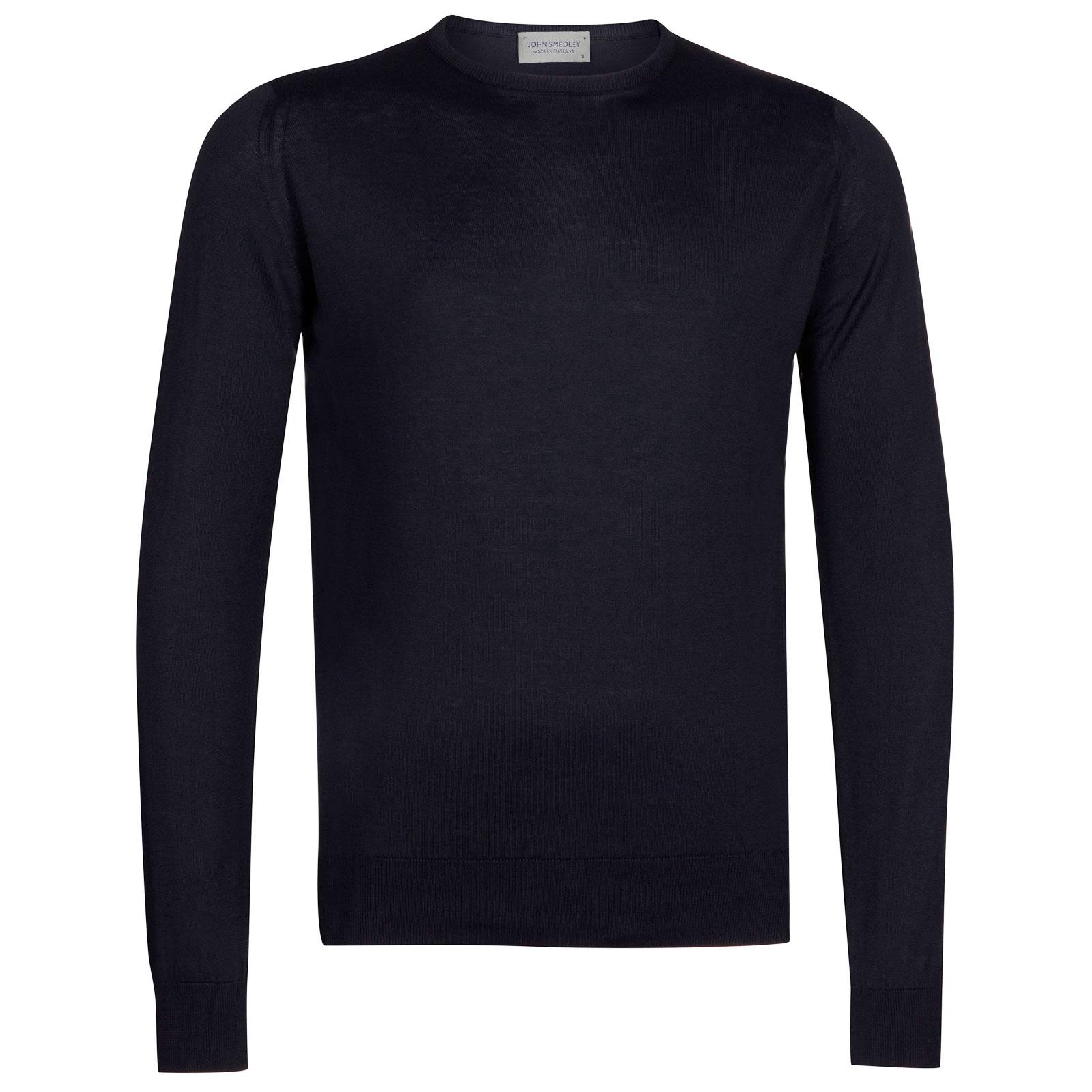 John Smedley hatfield Sea Island Cotton Pullover in Navy-XL