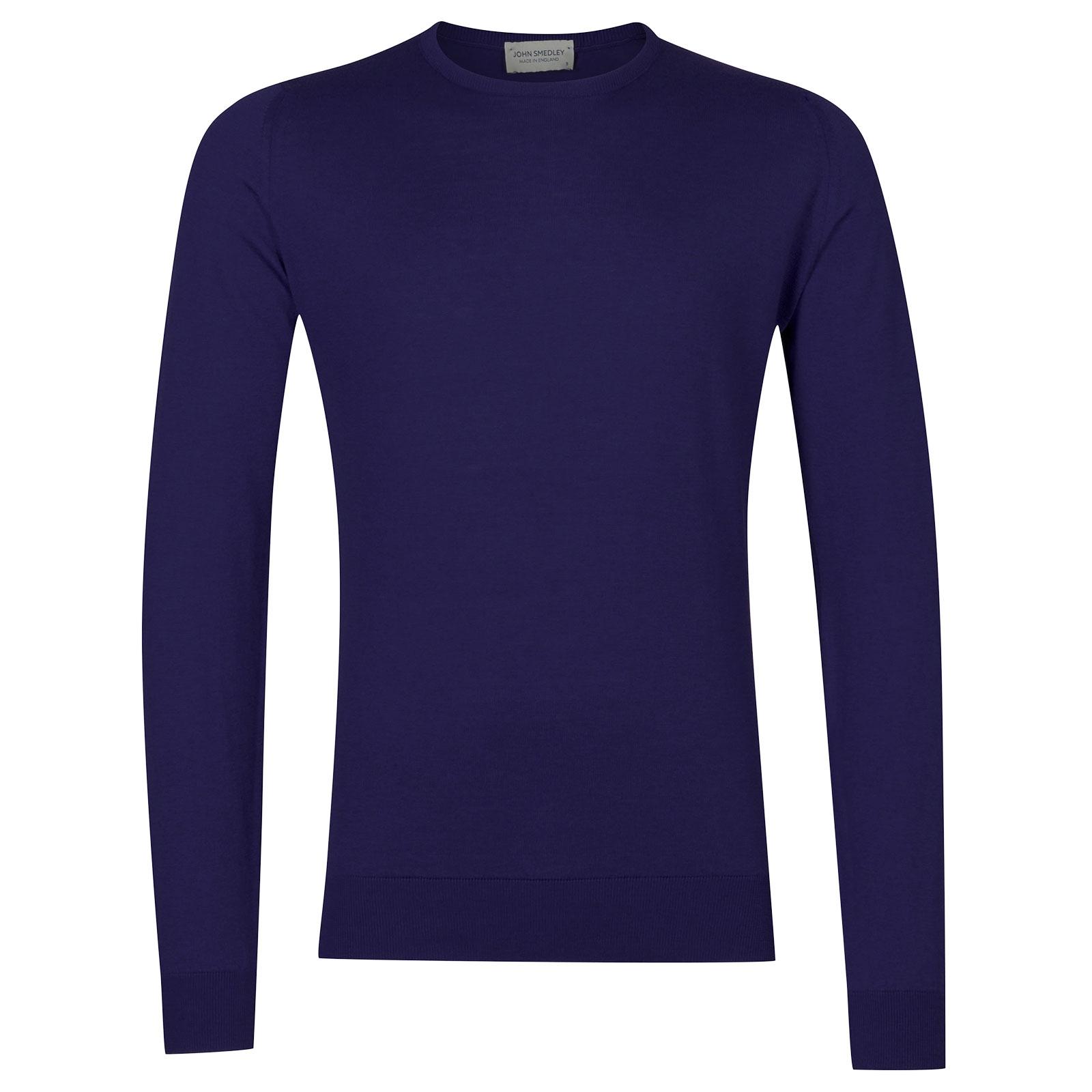 John Smedley HatfieldSea Island Cotton Pullover in Serge Blue-M