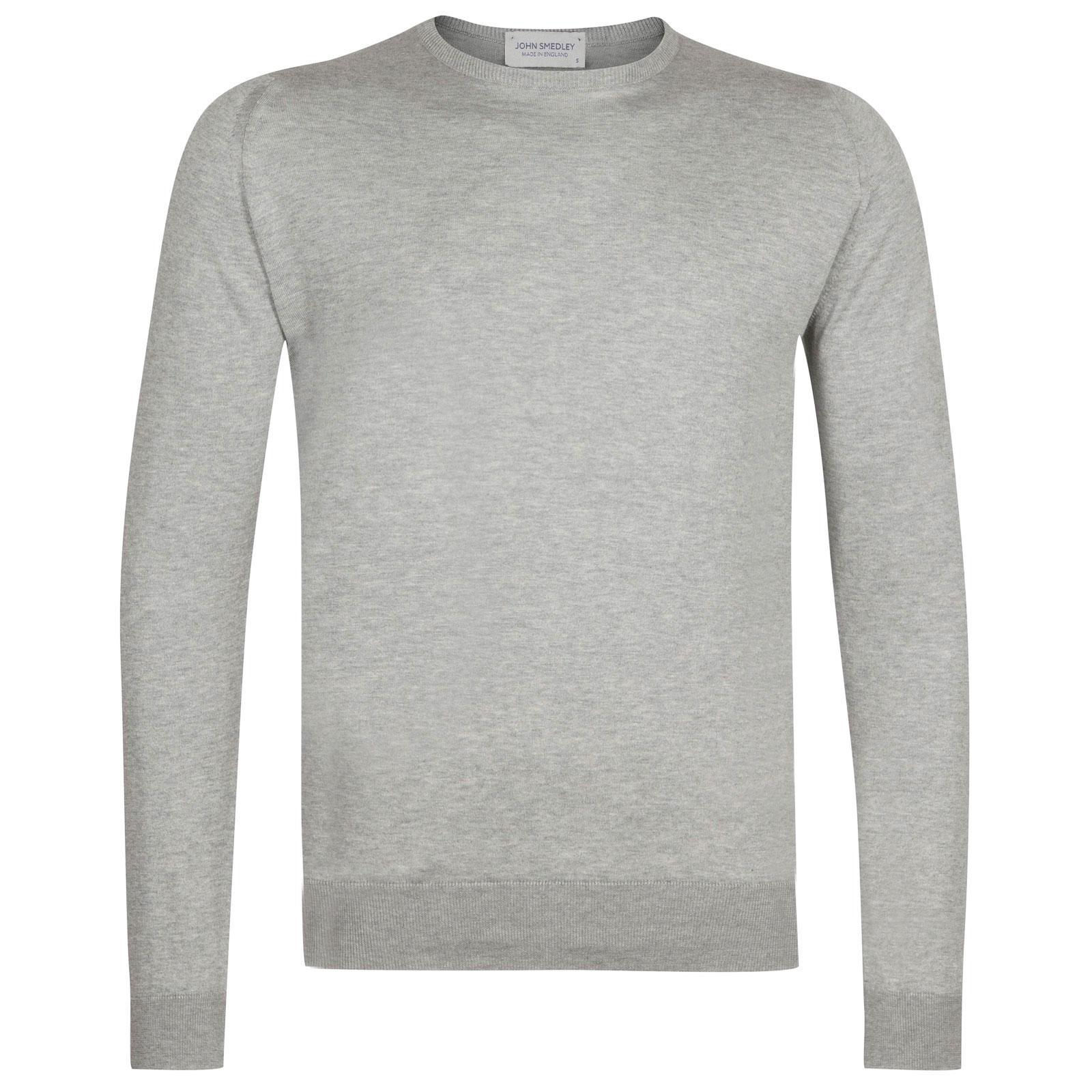 John Smedley hatfield Sea Island Cotton Pullover in Silver-XL
