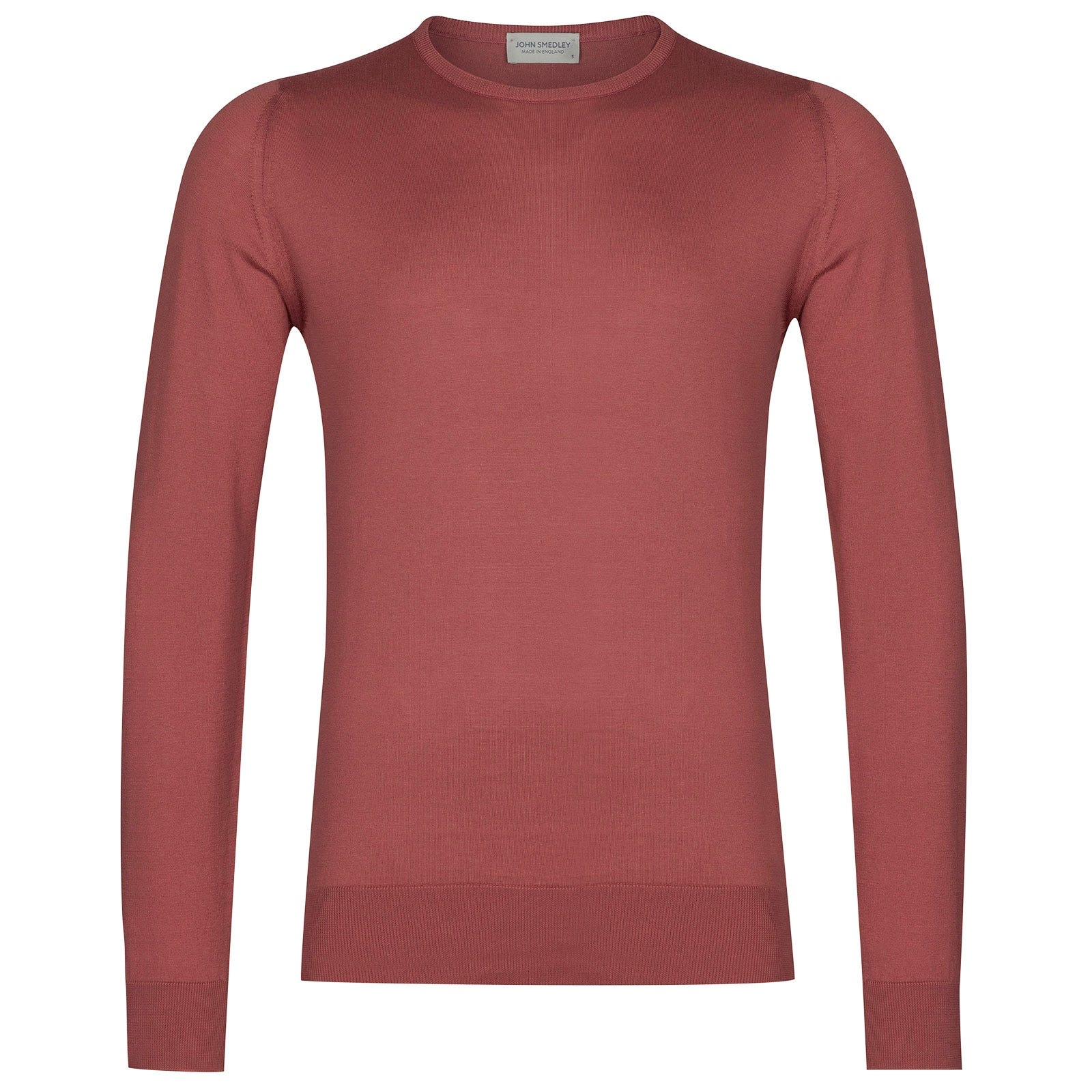 John Smedley hatfield Sea Island Cotton Pullover in Stanton Pink-S