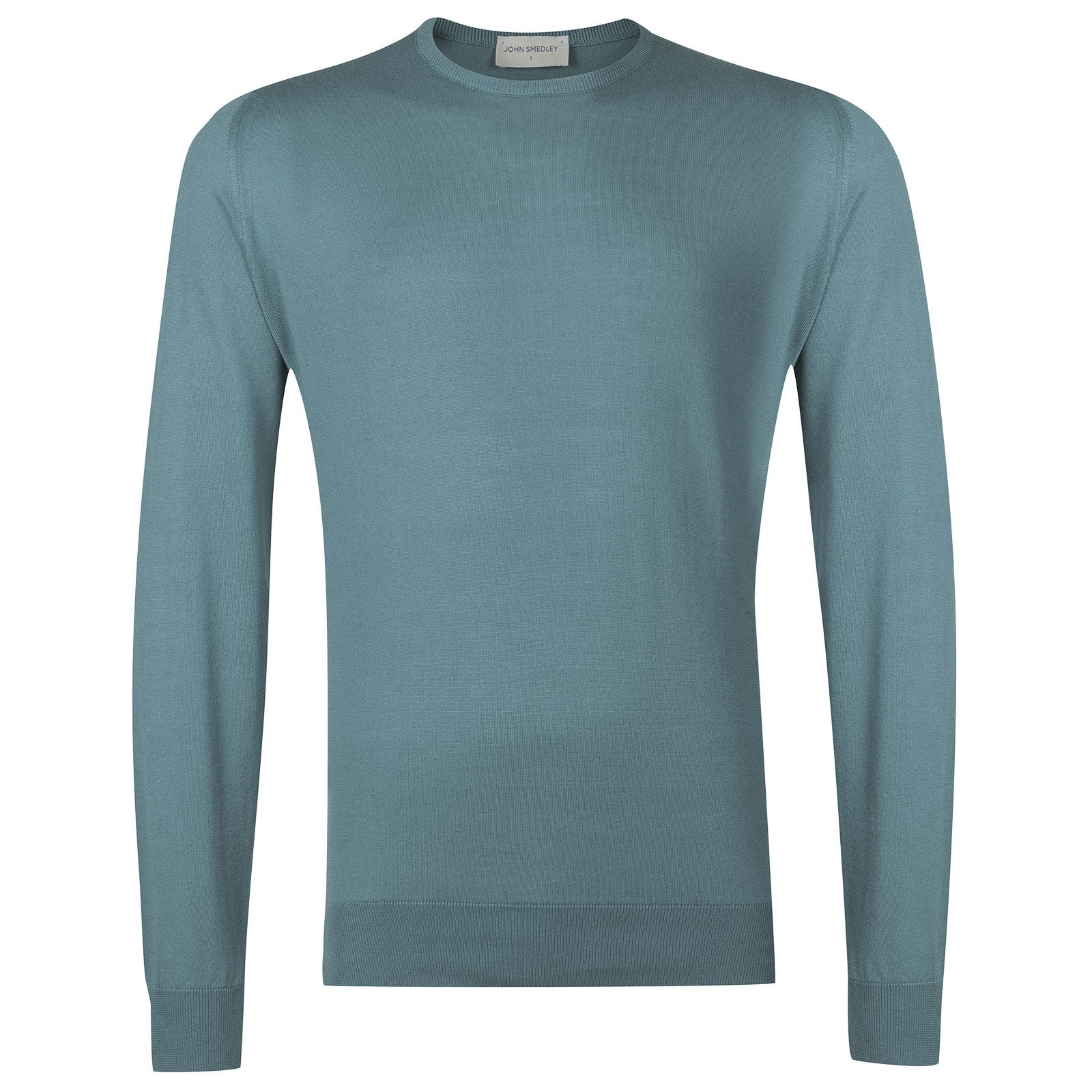 John Smedley hatfield Sea Island Cotton Pullover in Summit Blue-XL