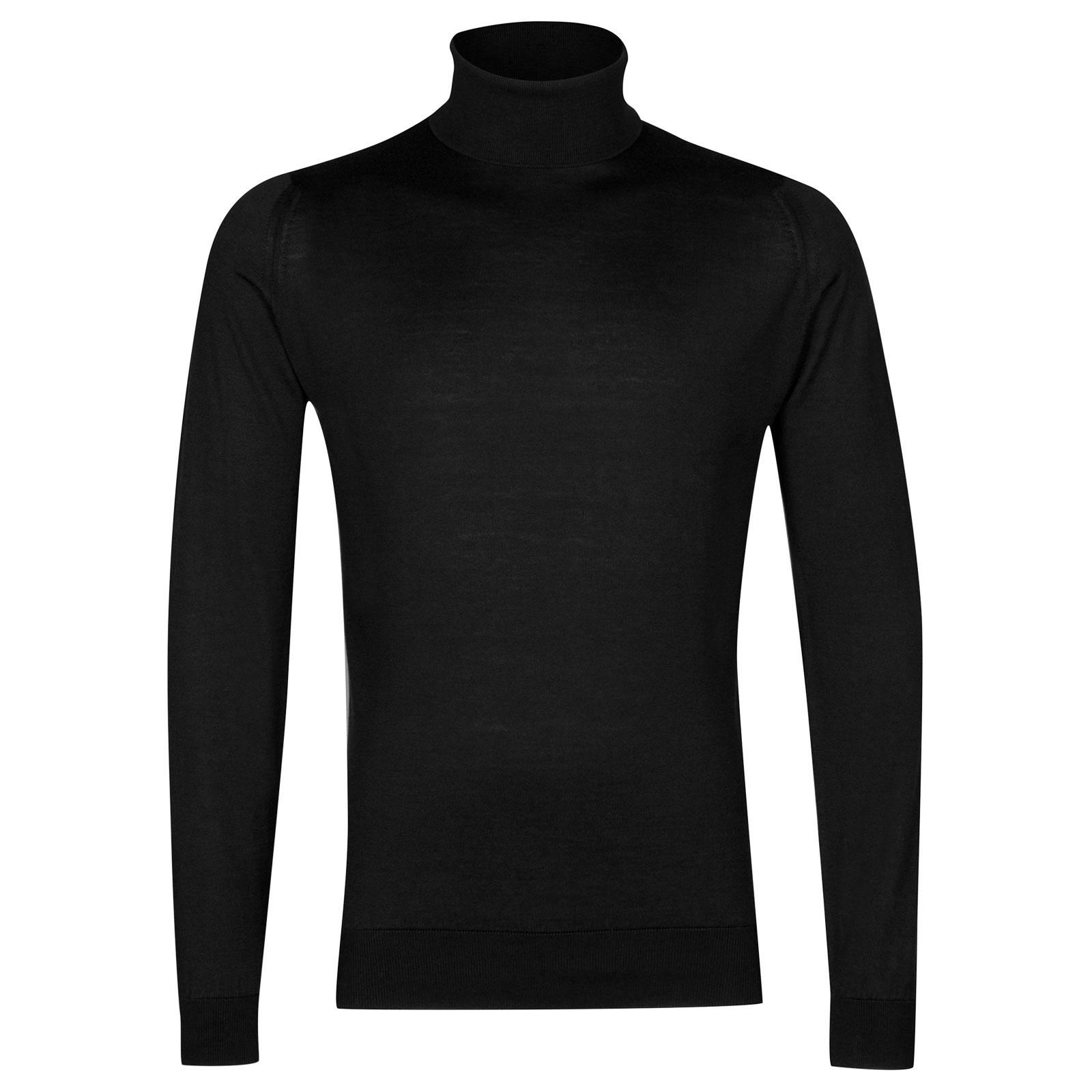 John Smedley Hawley Sea Island Cotton Pullover in Black-S
