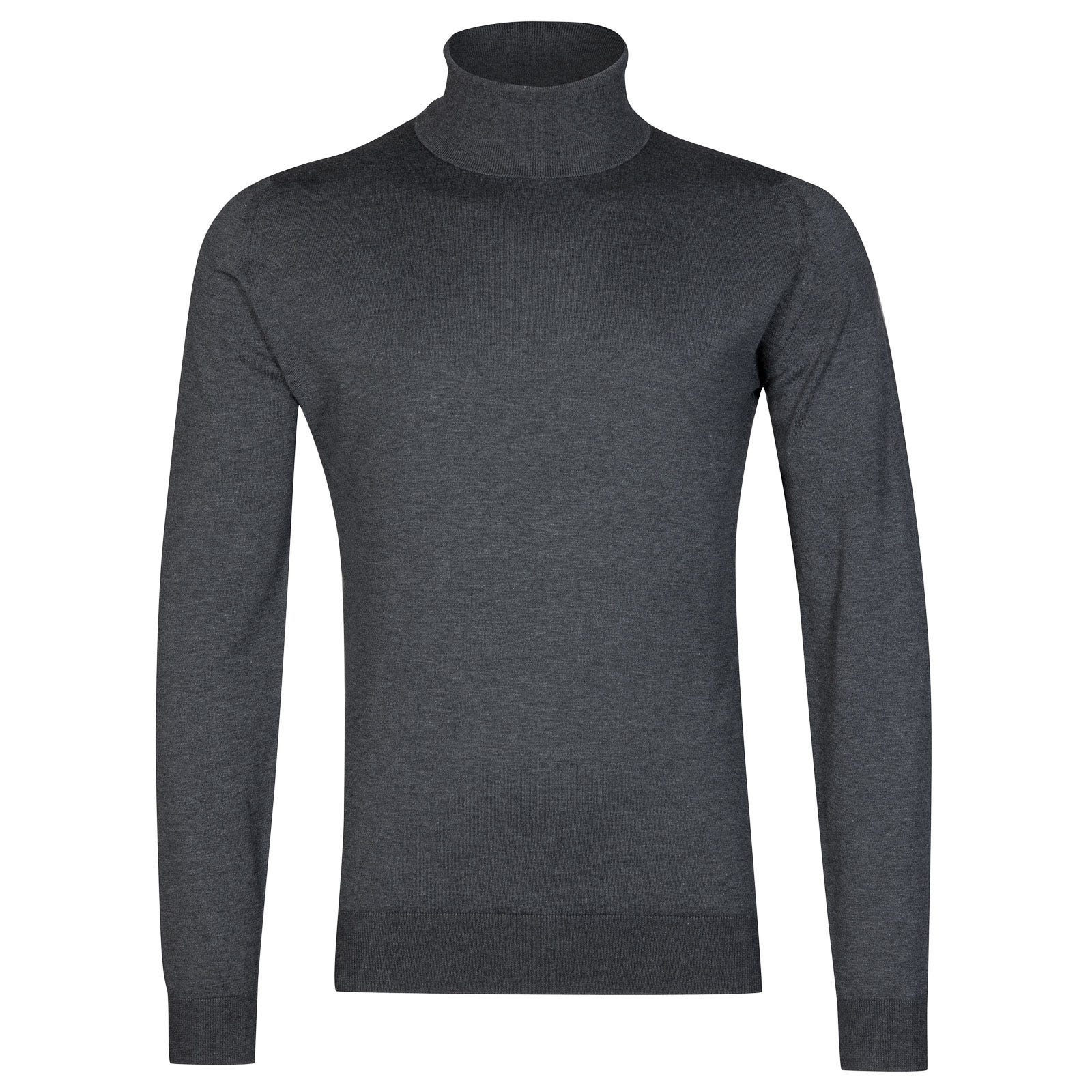 John Smedley Hawley Sea Island Cotton Pullover in Charcoal-M