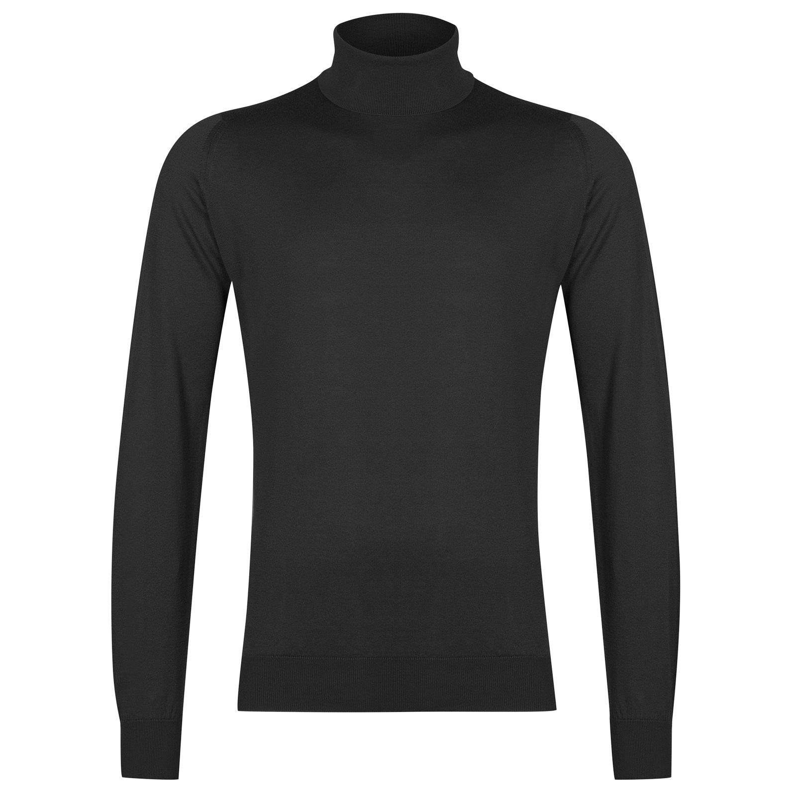 John Smedley Hawley Sea Island Cotton Pullover in Flannel Grey-XL