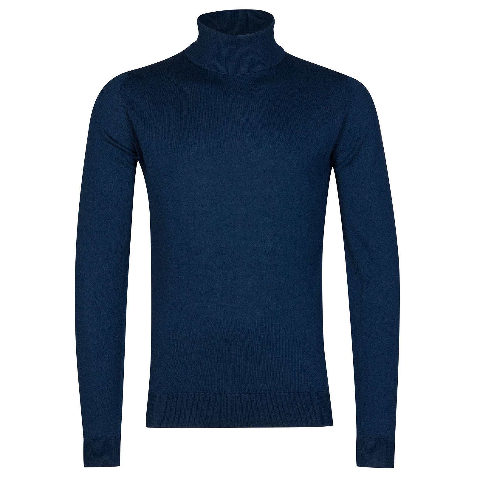 John Smedley Hawley Sea Island Cotton Pullover in Indigo-XL