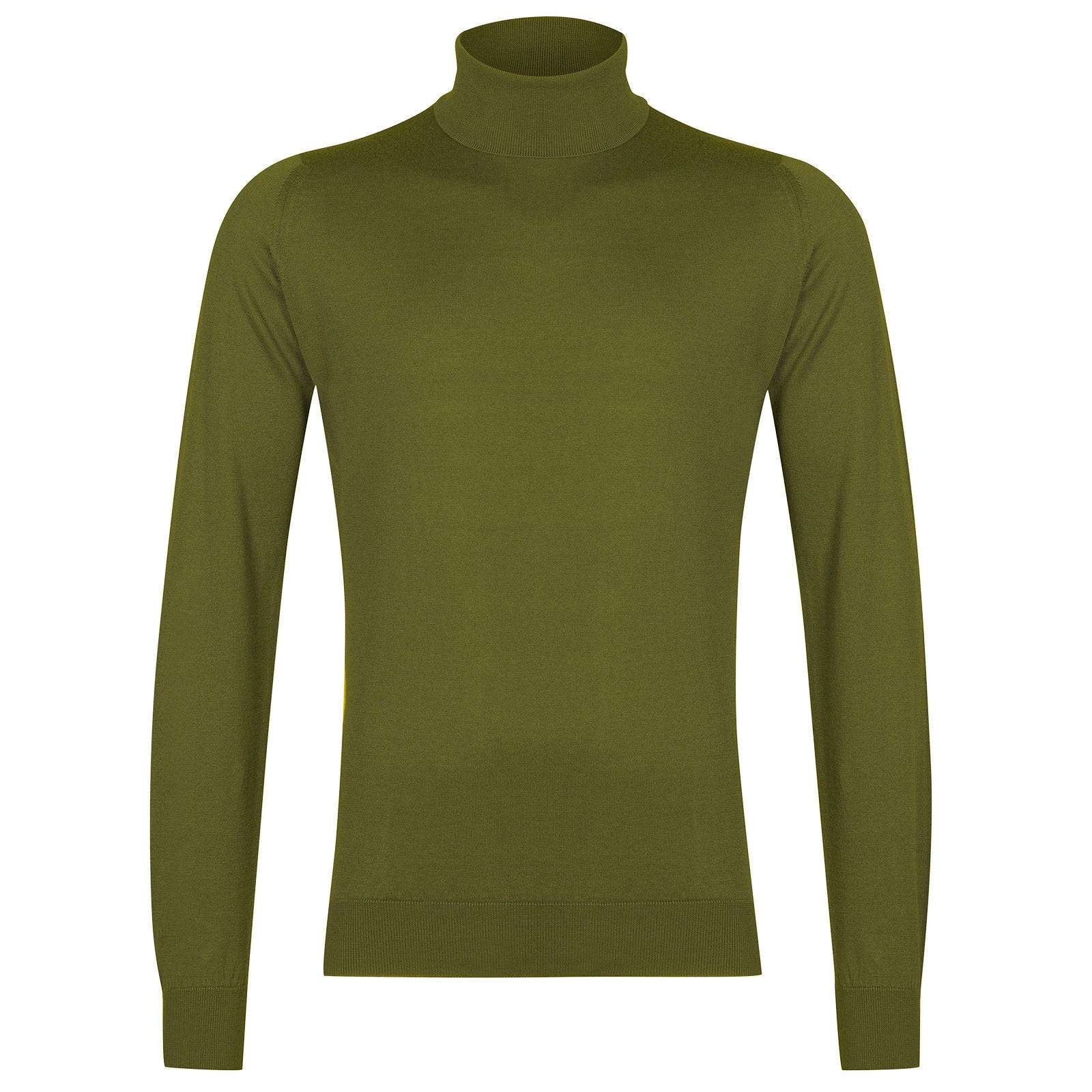 John Smedley Hawley Sea Island Cotton Pullover in Lumsdale Green-XL