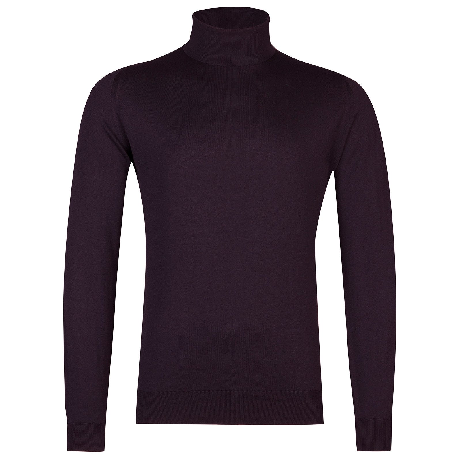 John Smedley Hawley Sea Island Cotton Pullover in Mystic Purple-M