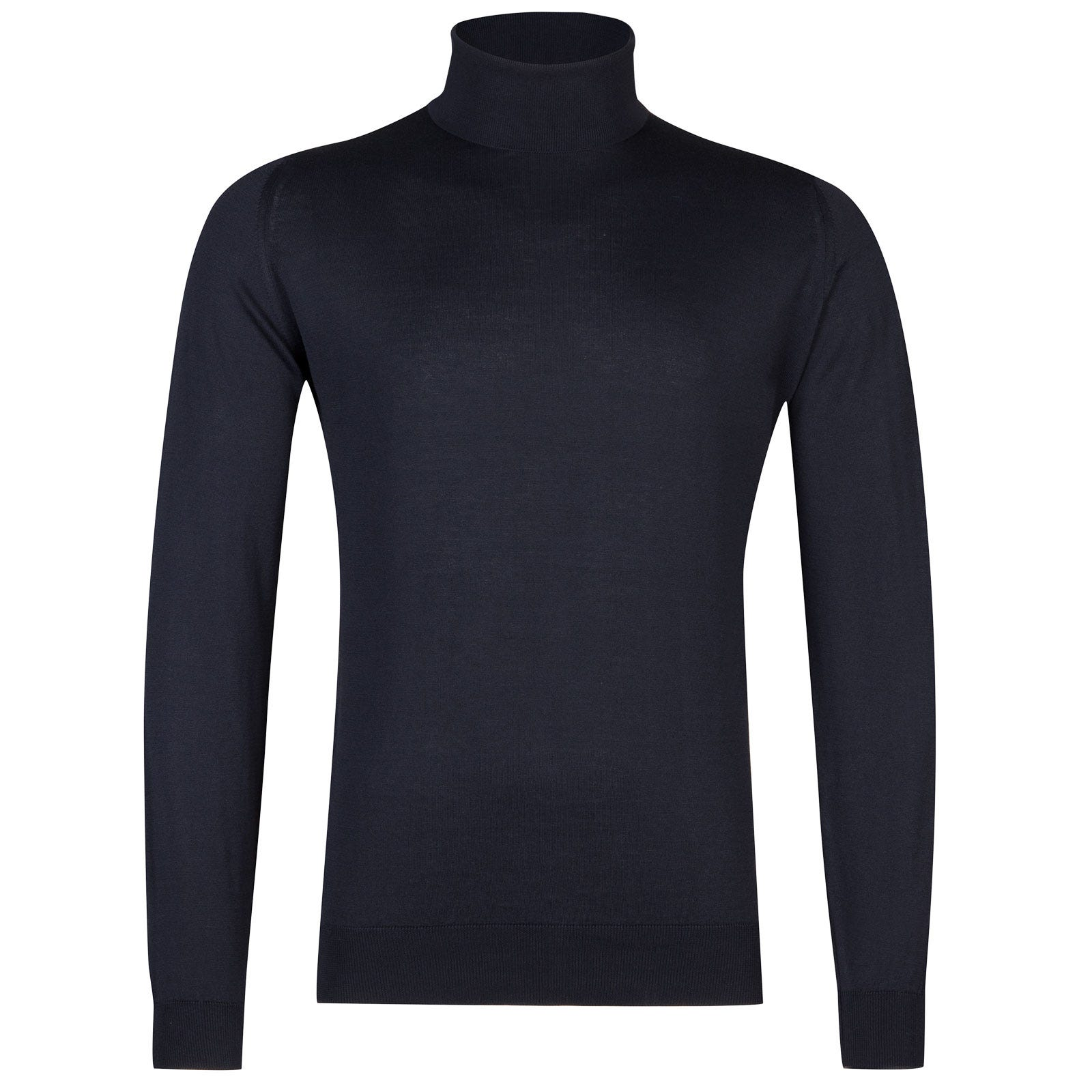 John Smedley Hawley Sea Island Cotton Pullover in Navy-M