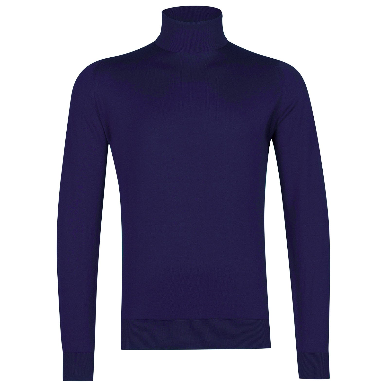 John Smedley Hawley Sea Island Cotton Pullover in Serge Blue-XXL