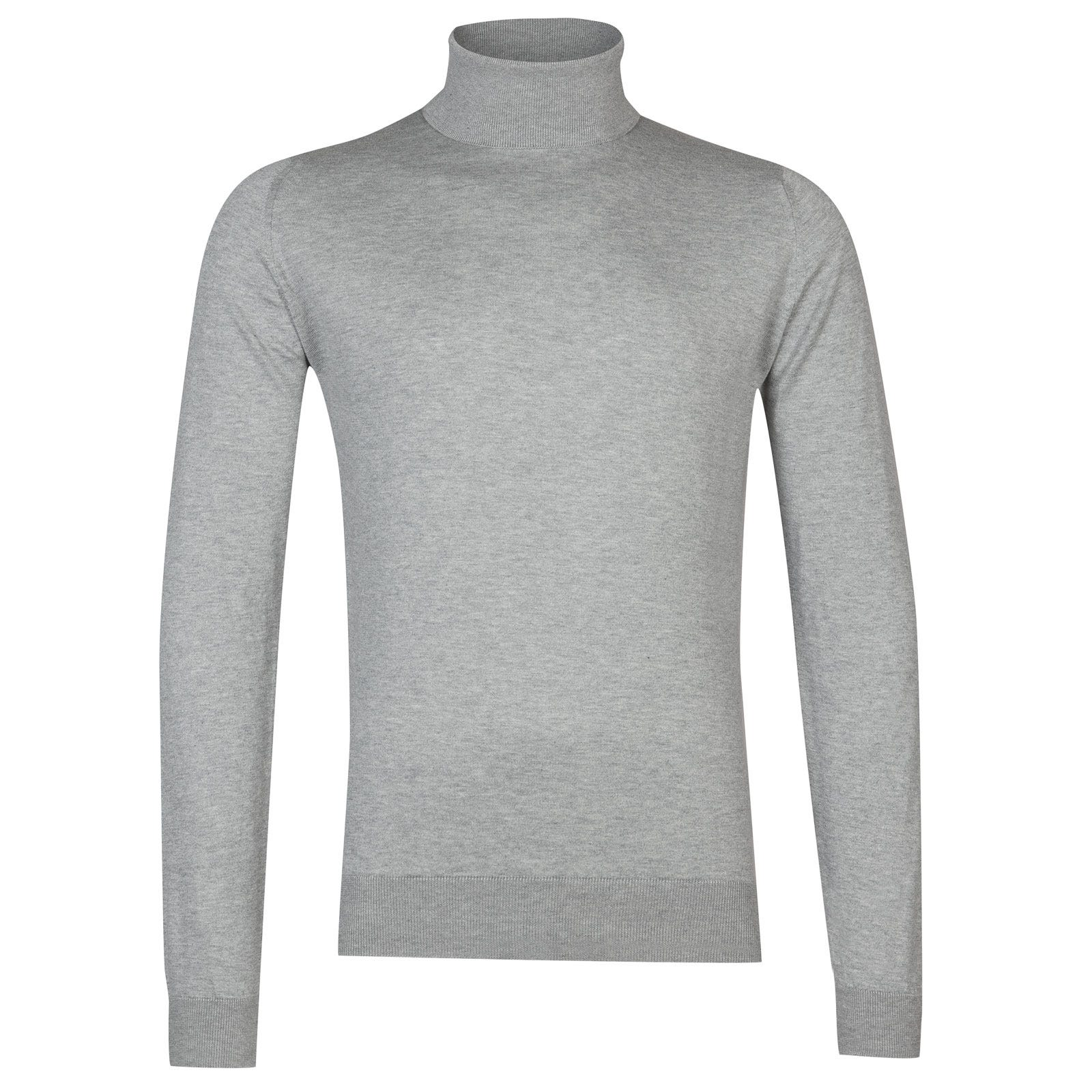 John Smedley Hawley Sea Island Cotton Pullover in Silver-M