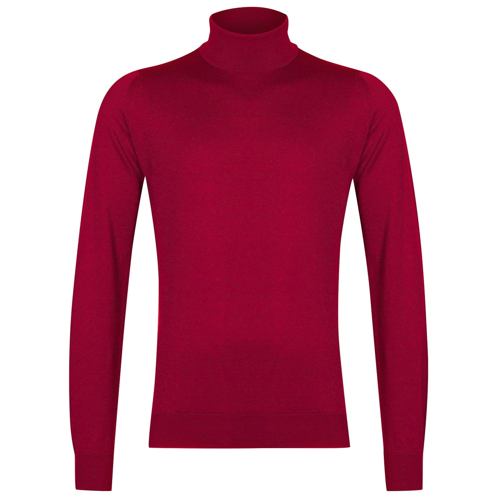 John Smedley Hawley Sea Island Cotton Pullover in Scarlet Sky-XL