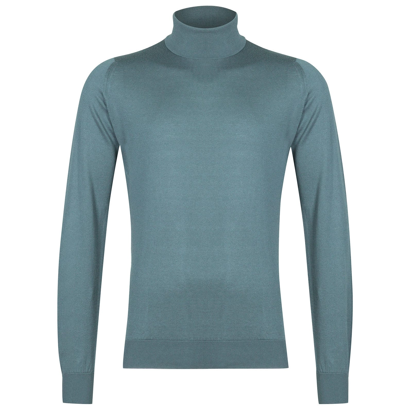 John Smedley Hawley Sea Island Cotton Pullover in Summit Blue-L
