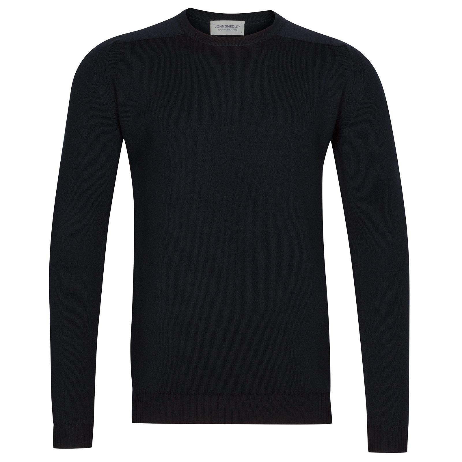 John Smedley Hawling Merino Wool Pullover in Midnight-M