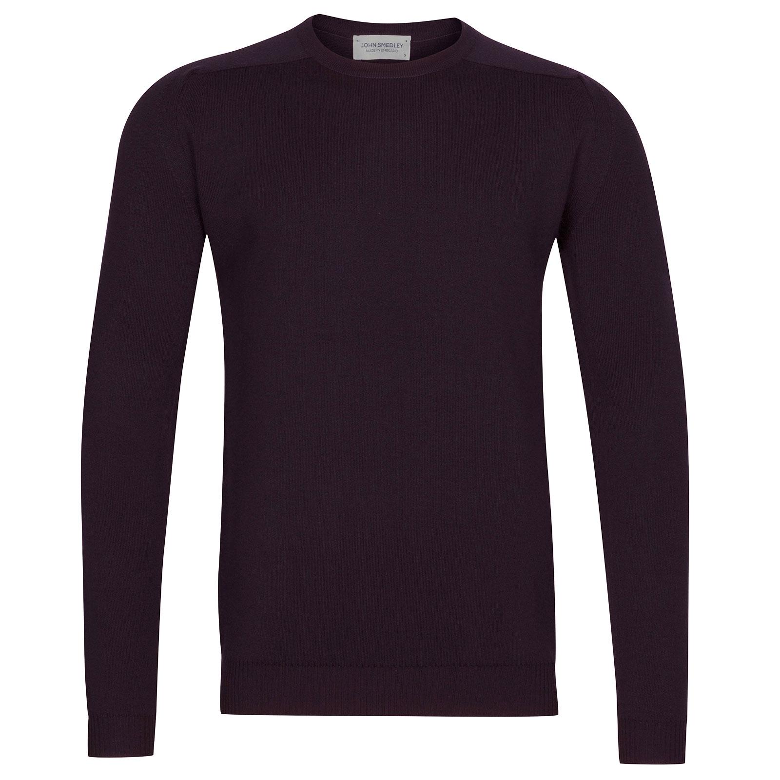 John Smedley Hawling Merino Wool Pullover in Mystic Purple-XL