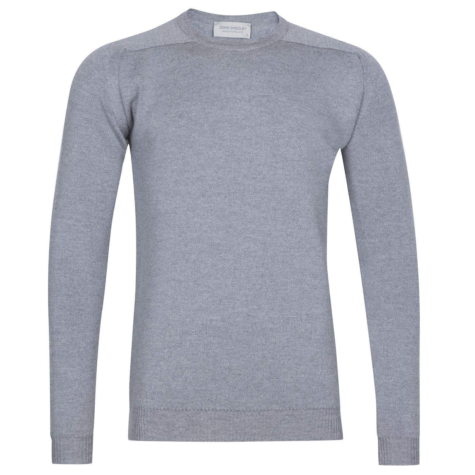 John Smedley Hawling Merino Wool Pullover in Silver-M