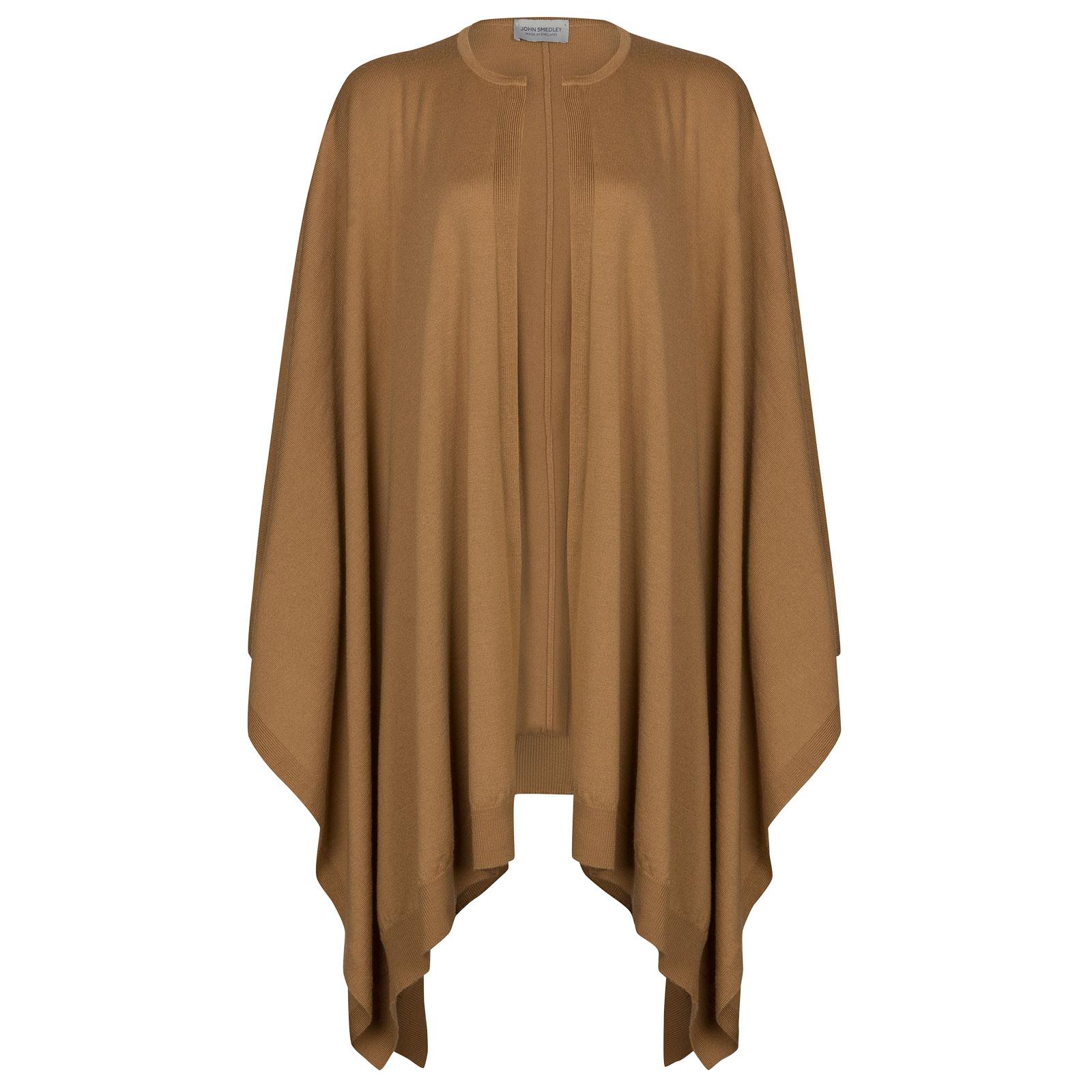 John Smedley heddon Merino Wool Cape in Camel-ONE