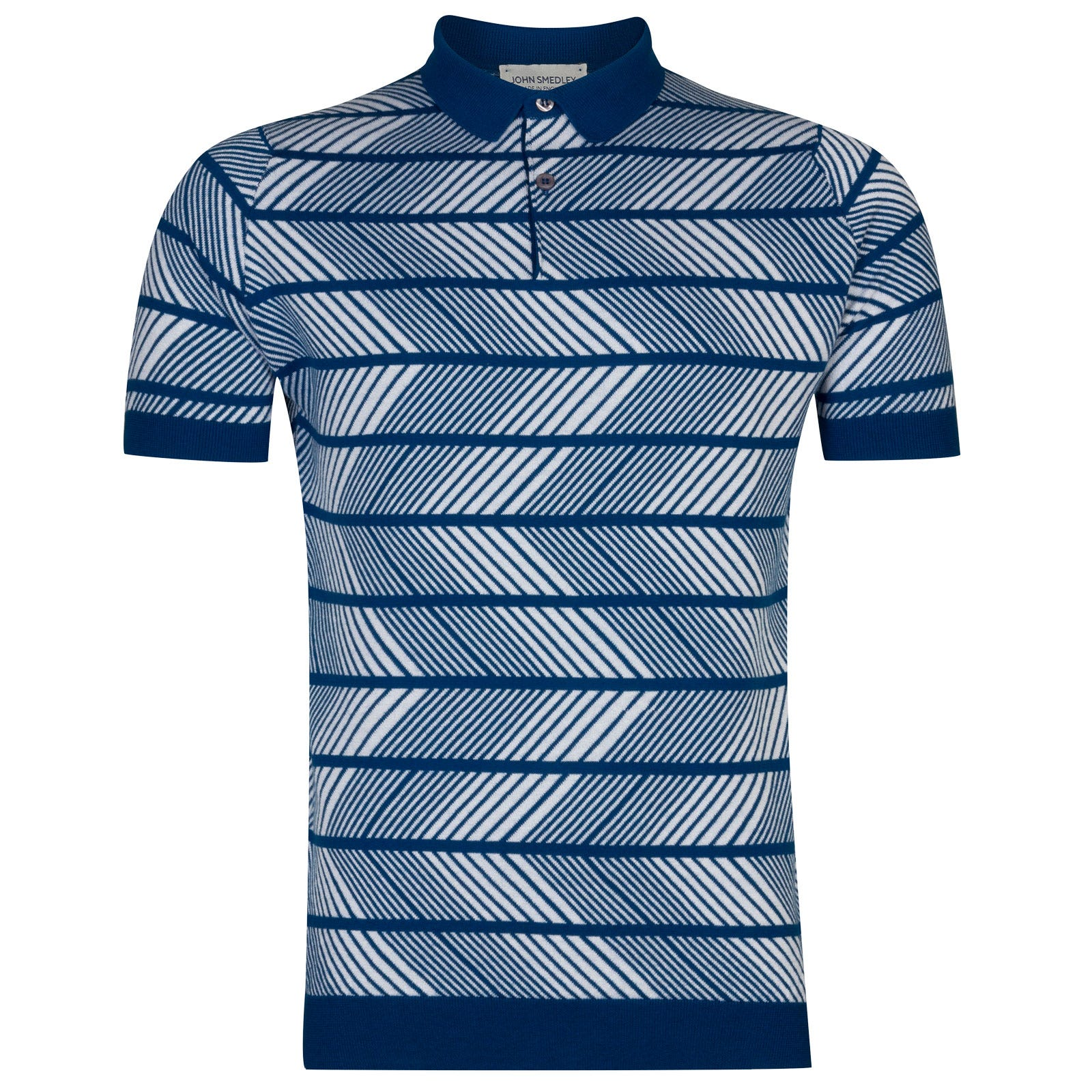 John Smedley Hermann in Stevens Blue/White-S