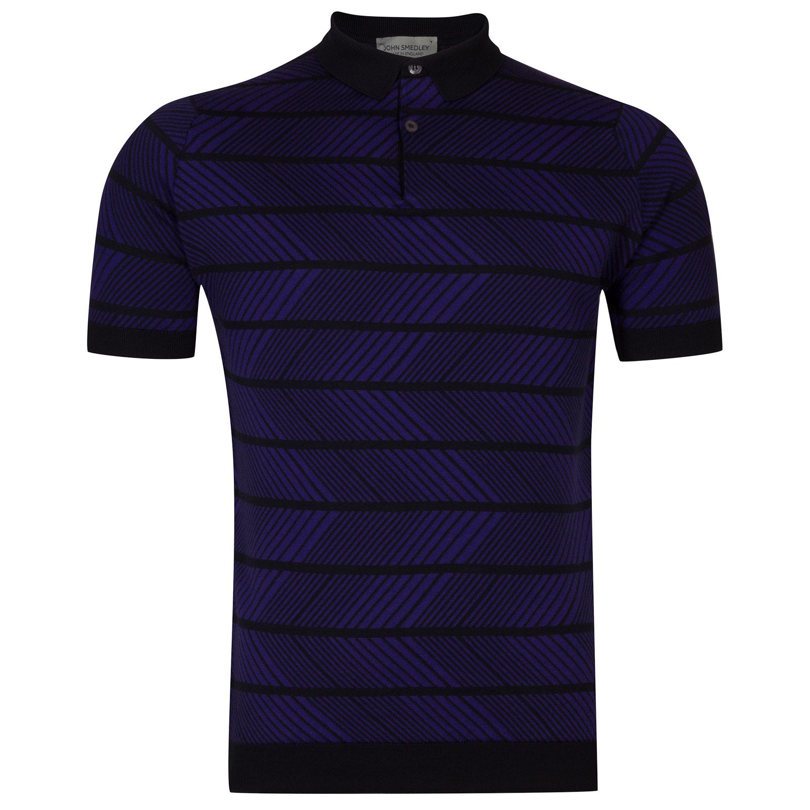 John Smedley Hermann in Navy/Electric Purple-S