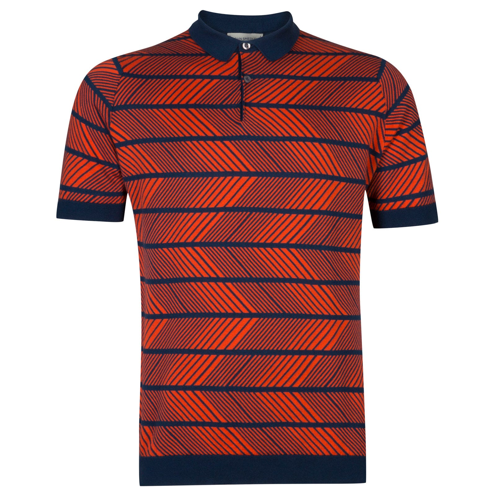 John Smedley Hermann in Indigo/Gehry Orange-L